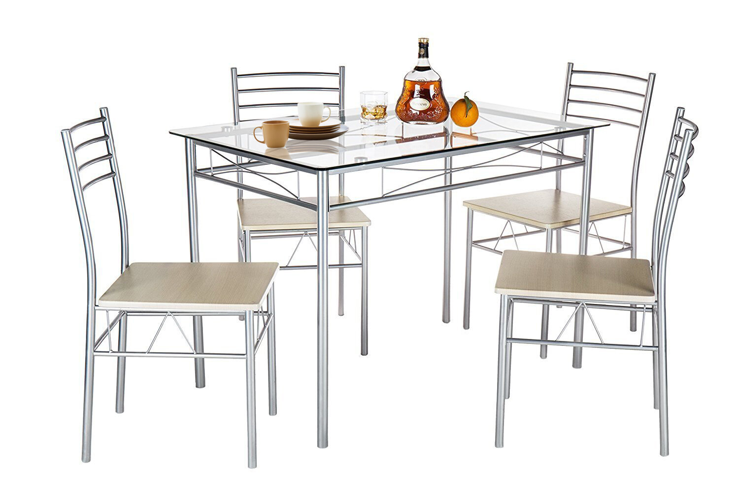 Ephraim 5 Piece Dining Sets For Current Ebern Designs Liles 5 Piece Breakfast Nook Dining Set & Reviews (#6 of 20)