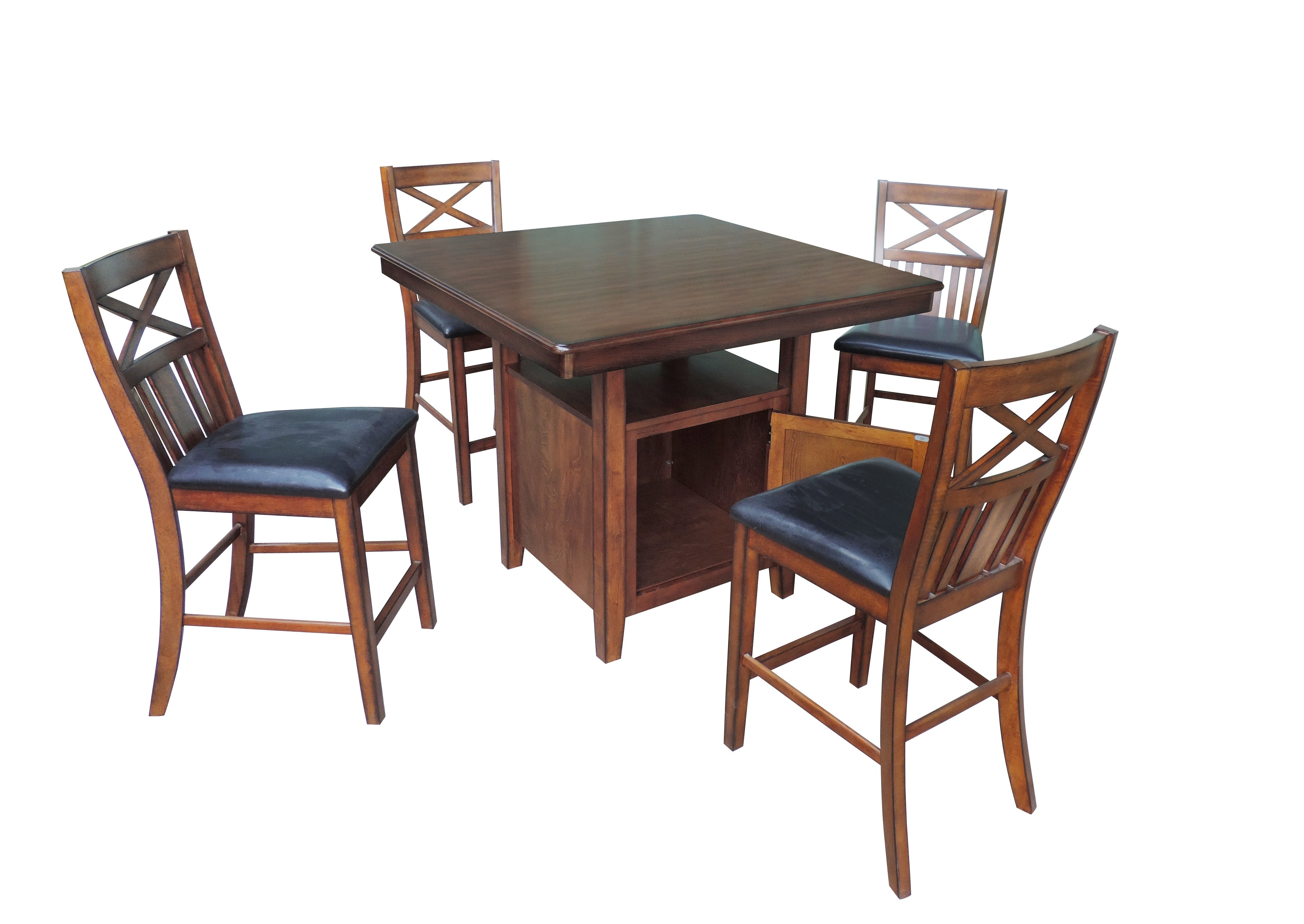 Ephraim 5 Piece Dining Sets Pertaining To Widely Used Nathanielhome 5 Piece Counter Height Dining Set (#8 of 20)