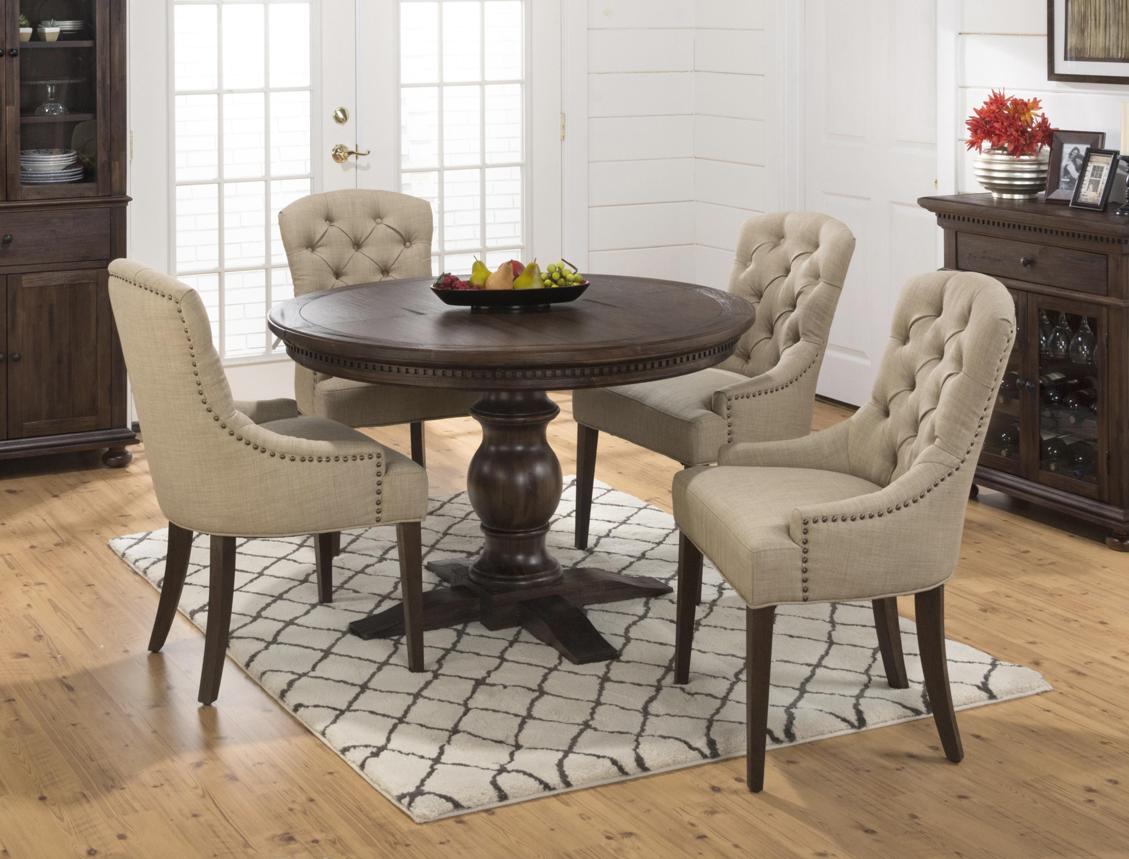 Popular Photo of Evellen 5 Piece Solid Wood Dining Sets (Set Of 5)