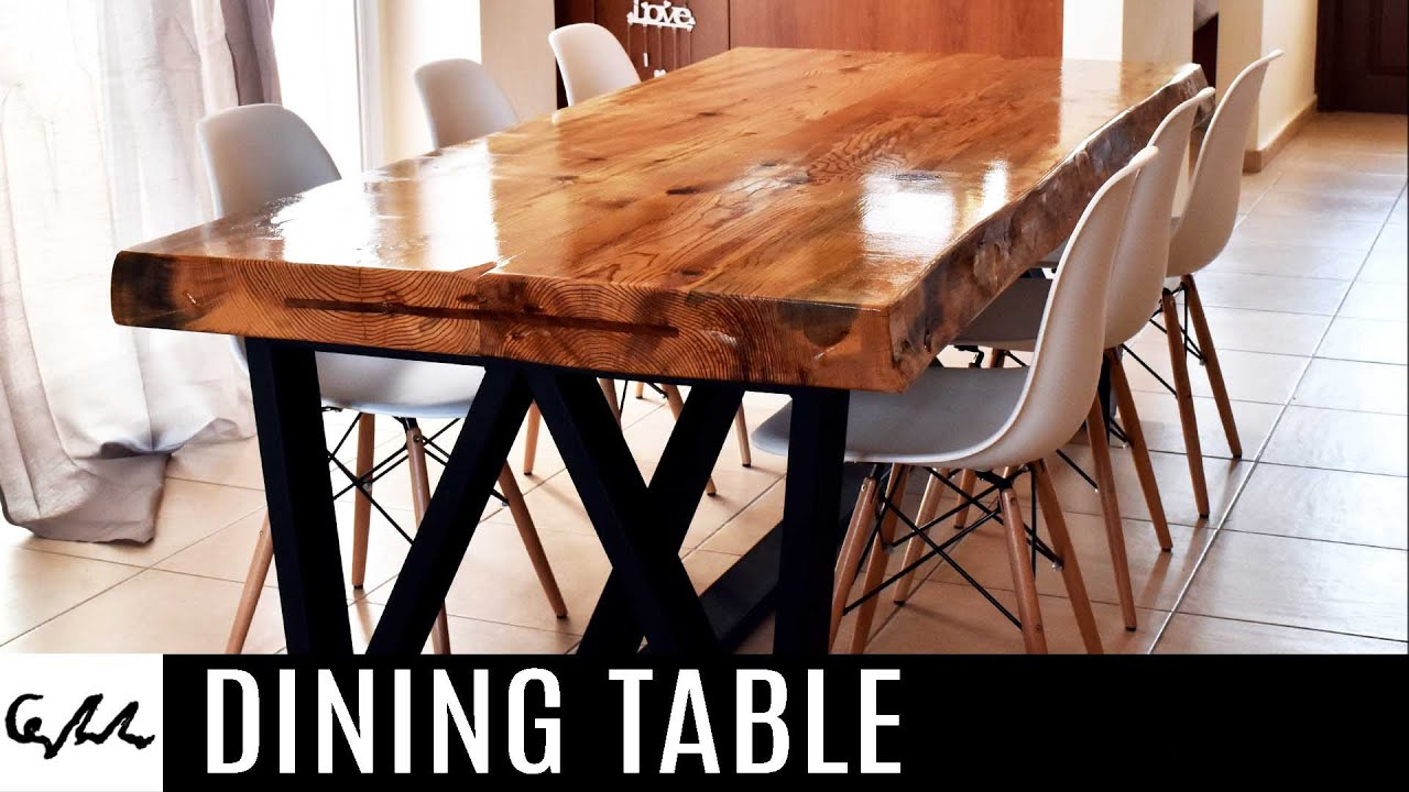 Falmer 3 Piece Solid Wood Dining Sets Regarding Recent Dining Table – Youtube (View 15 of 20)