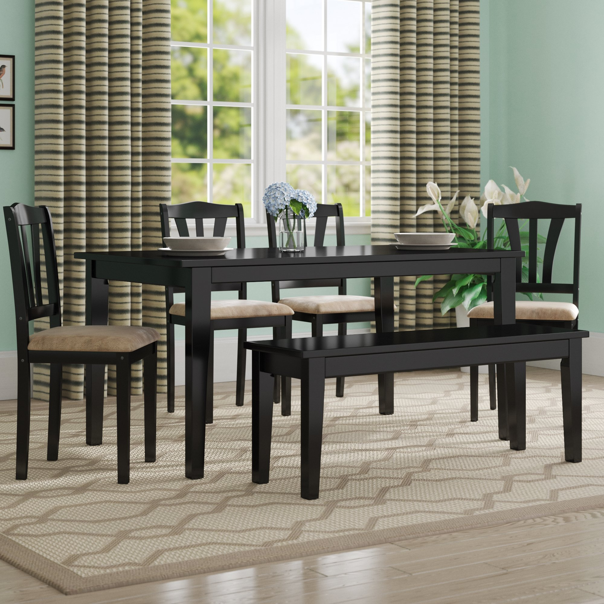 Famous Alcott Hill Hysell 6 Piece Dining Set & Reviews (#2 of 20)
