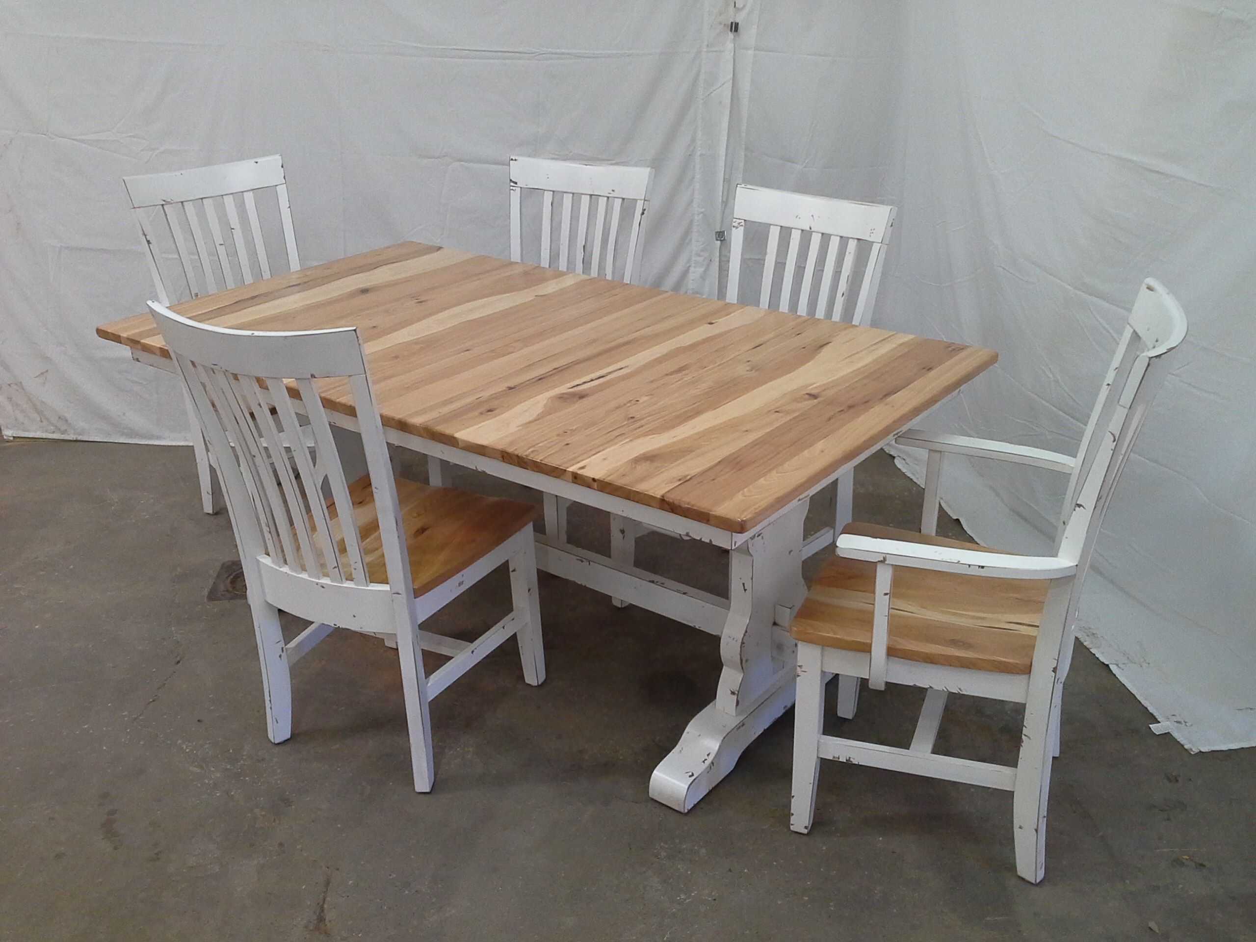 Famous Rustic Furniture For Home Or Cabin Pertaining To Reinert 5 Piece Dining Sets (#3 of 20)