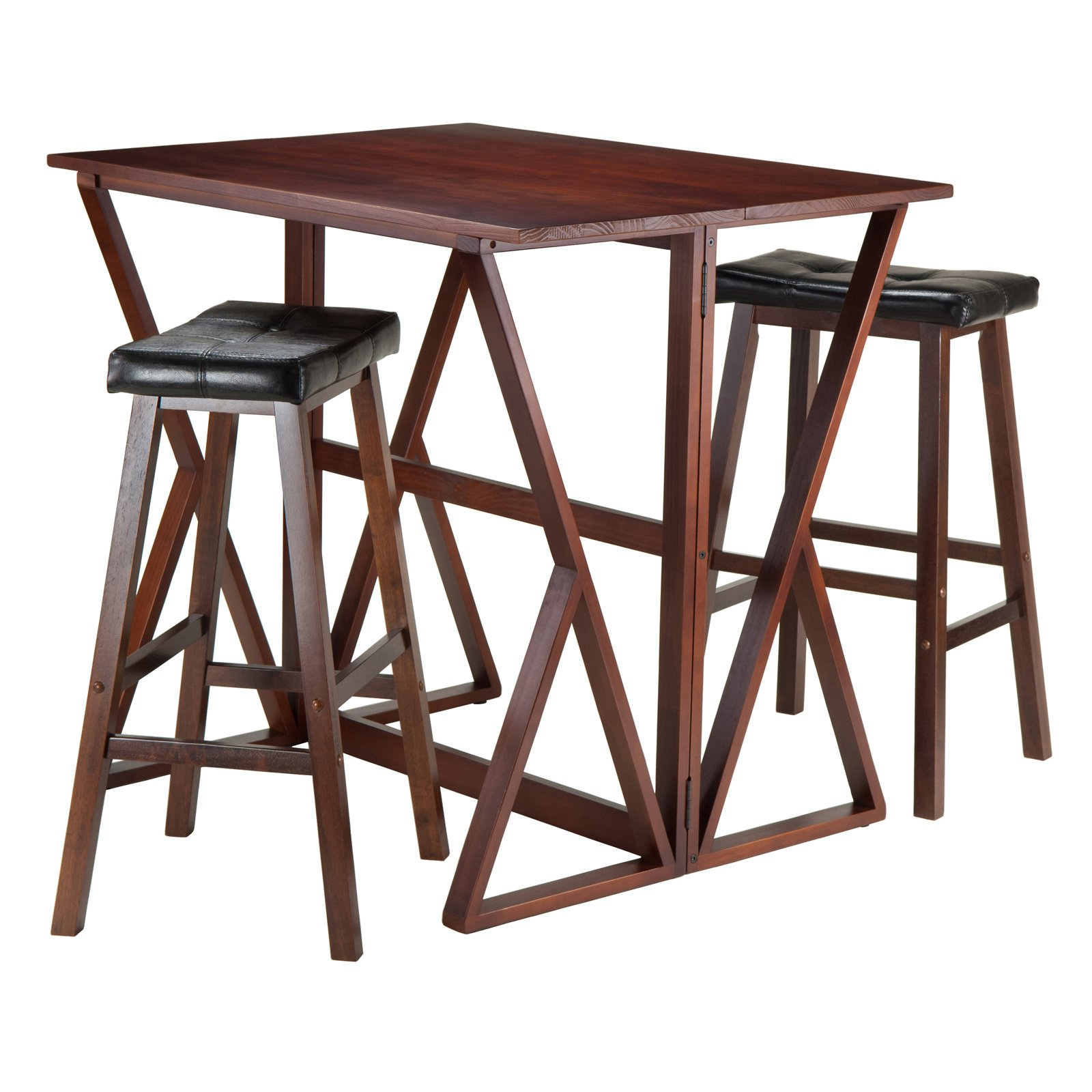 Famous Winsome Trading Harrington 3 Piece Counter Height Dining Table Set Pertaining To Winsome 3 Piece Counter Height Dining Sets (View 15 of 20)