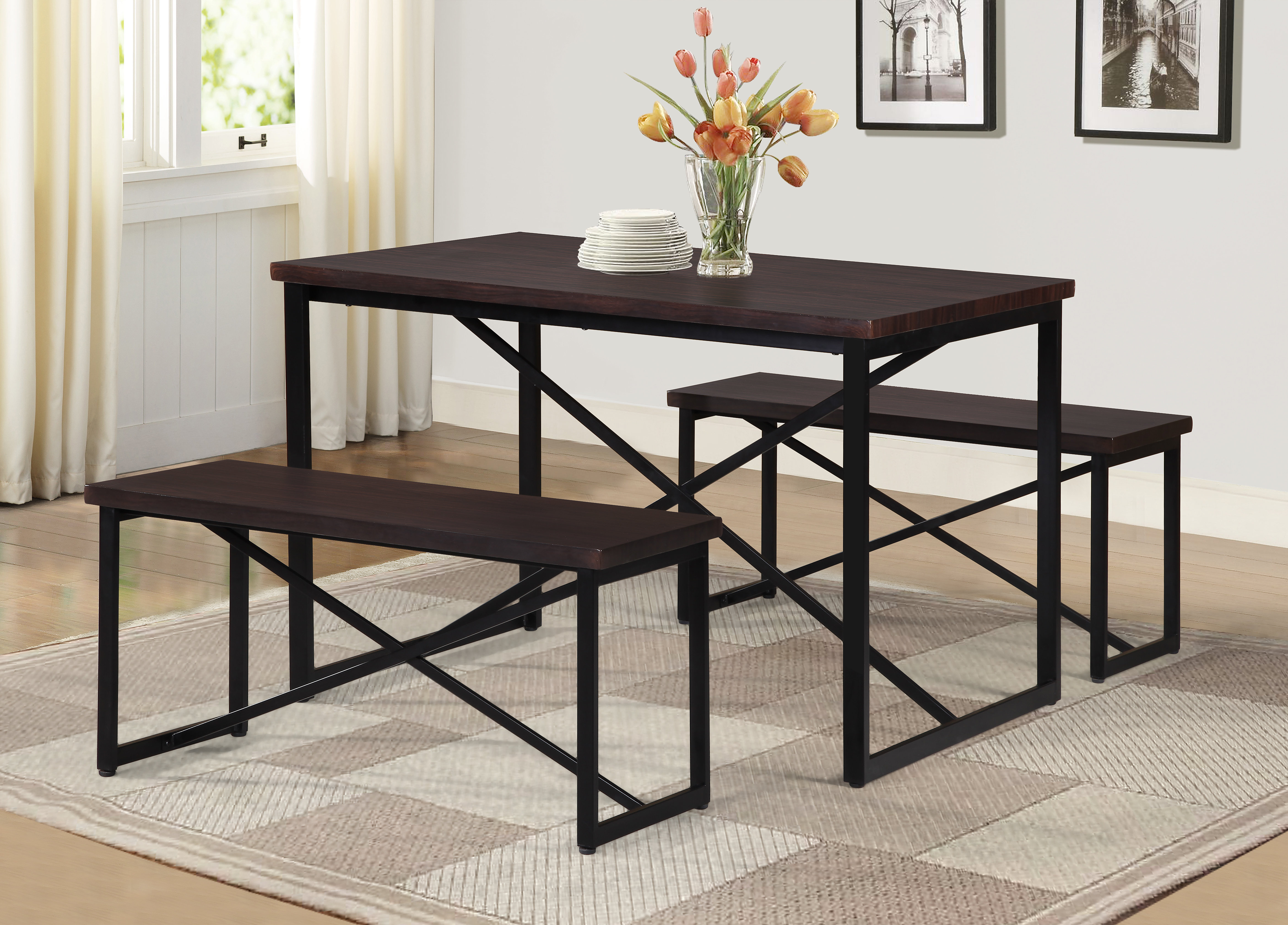 Fashionable Rossiter 3 Piece Dining Sets For Williston Forge Bearden 3 Piece Dining Set & Reviews (#5 of 20)