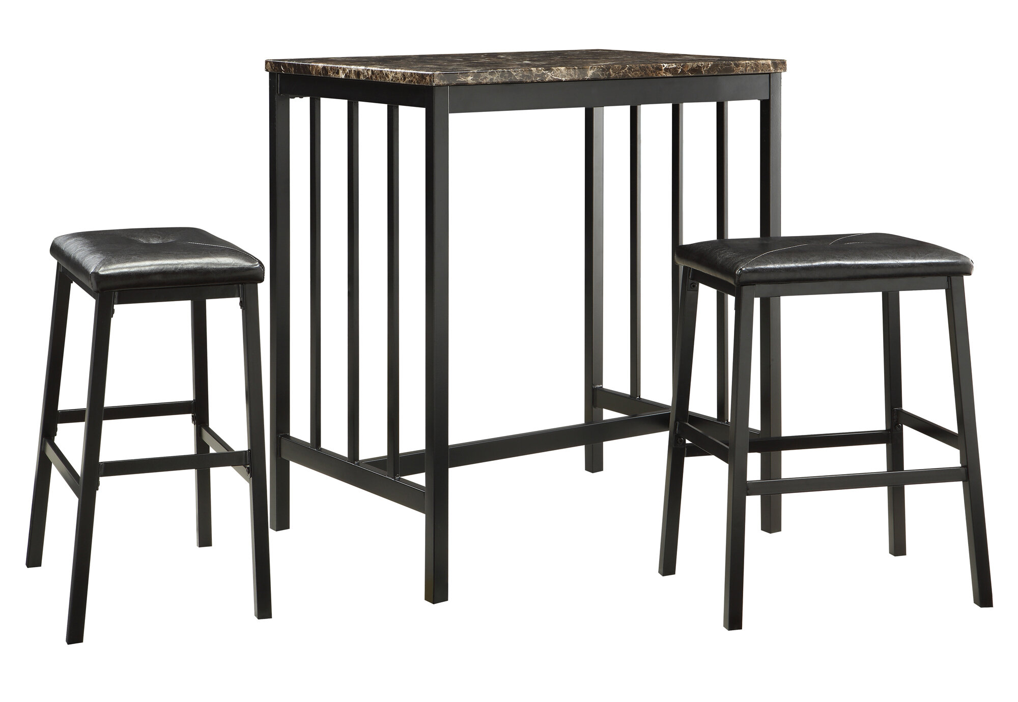 Favorite Charlton Home Anette 3 Piece Counter Height Dining Set (#7 of 20)