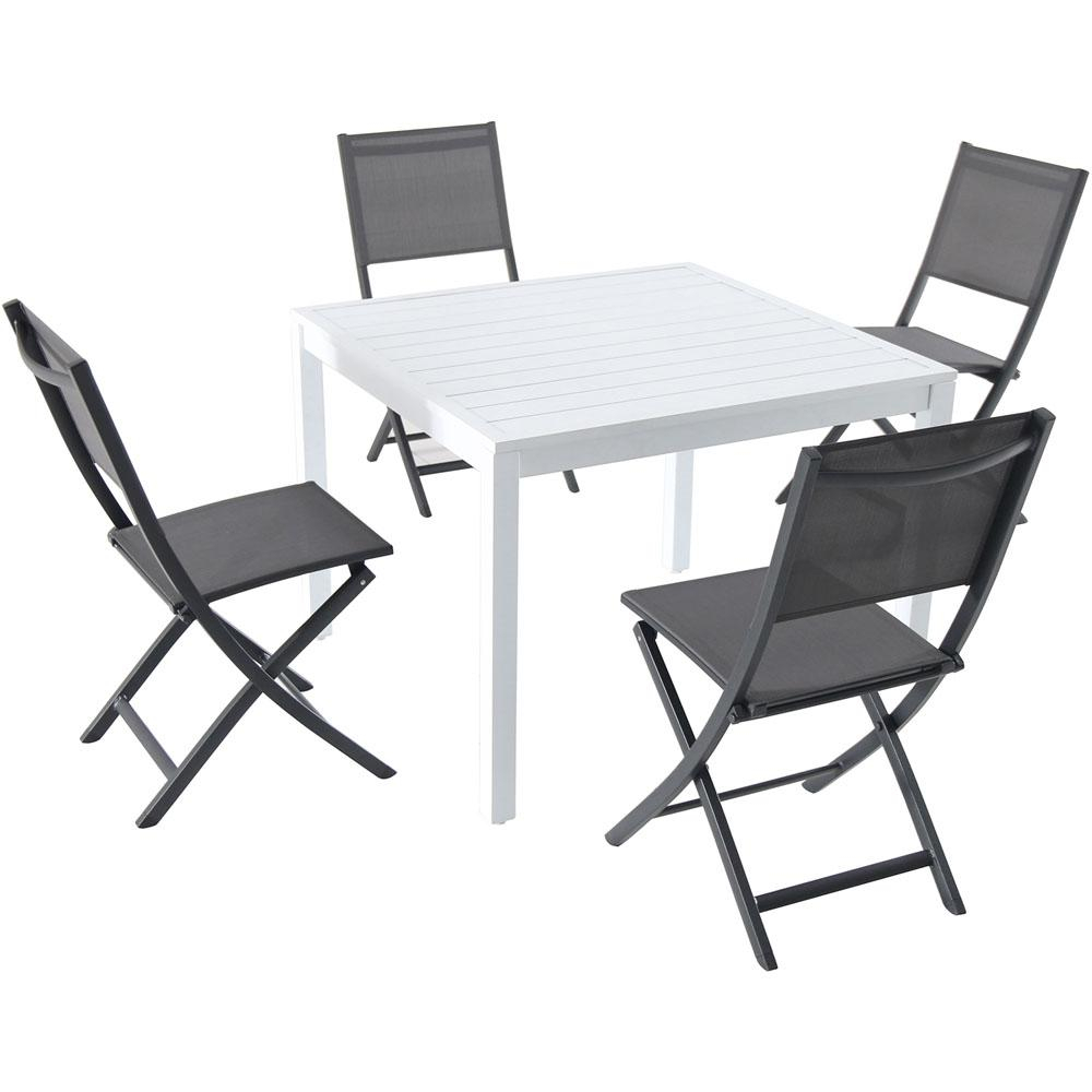Favorite Delmar 5 Piece Dining Sets Pertaining To Hanover Del Mar 5 Piece Aluminum Outdoor Dining Set With 4 Sling (View 11 of 20)