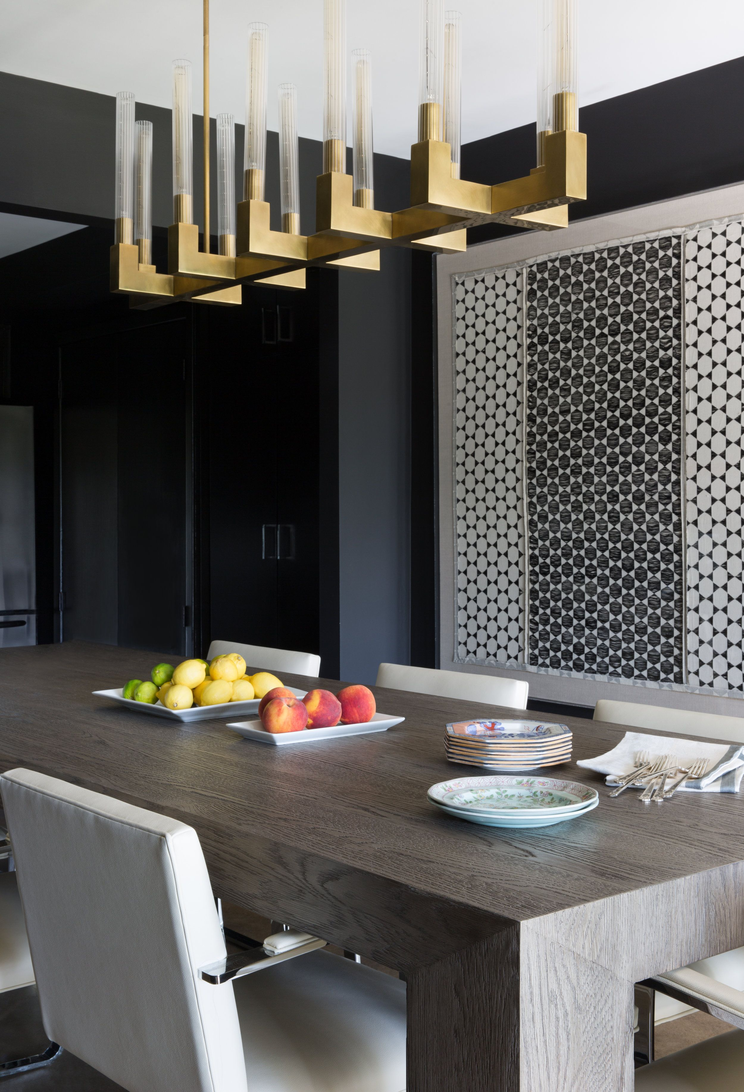 Favorite Moody Modern Dining Room With Amazing Gold Light Fixture! Love The Regarding Kaelin 5 Piece Dining Sets (#6 of 20)
