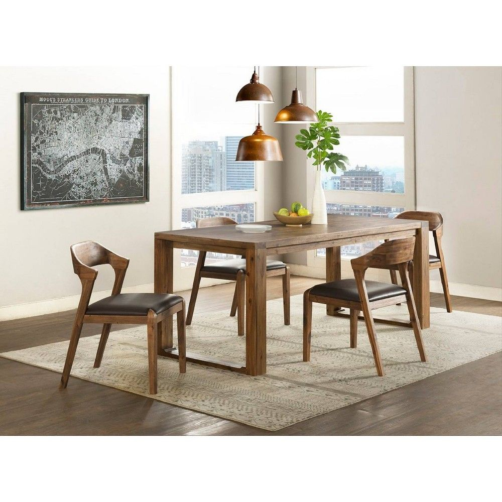 Favorite Mukai 5 Piece Dining Sets Pertaining To 5Pc Rasmus Dining Set With Side Chairs Chestnut (Brown) – Boraam In (#5 of 20)