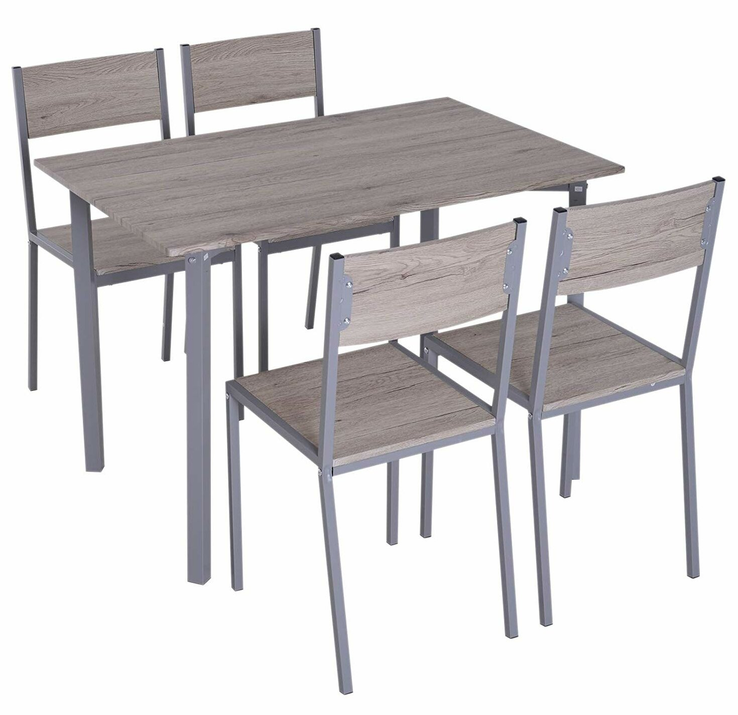 Favorite Stouferberg 5 Piece Dining Sets With Ebern Designs Legros Modern Compact 5 Piece Dining Set (#5 of 20)