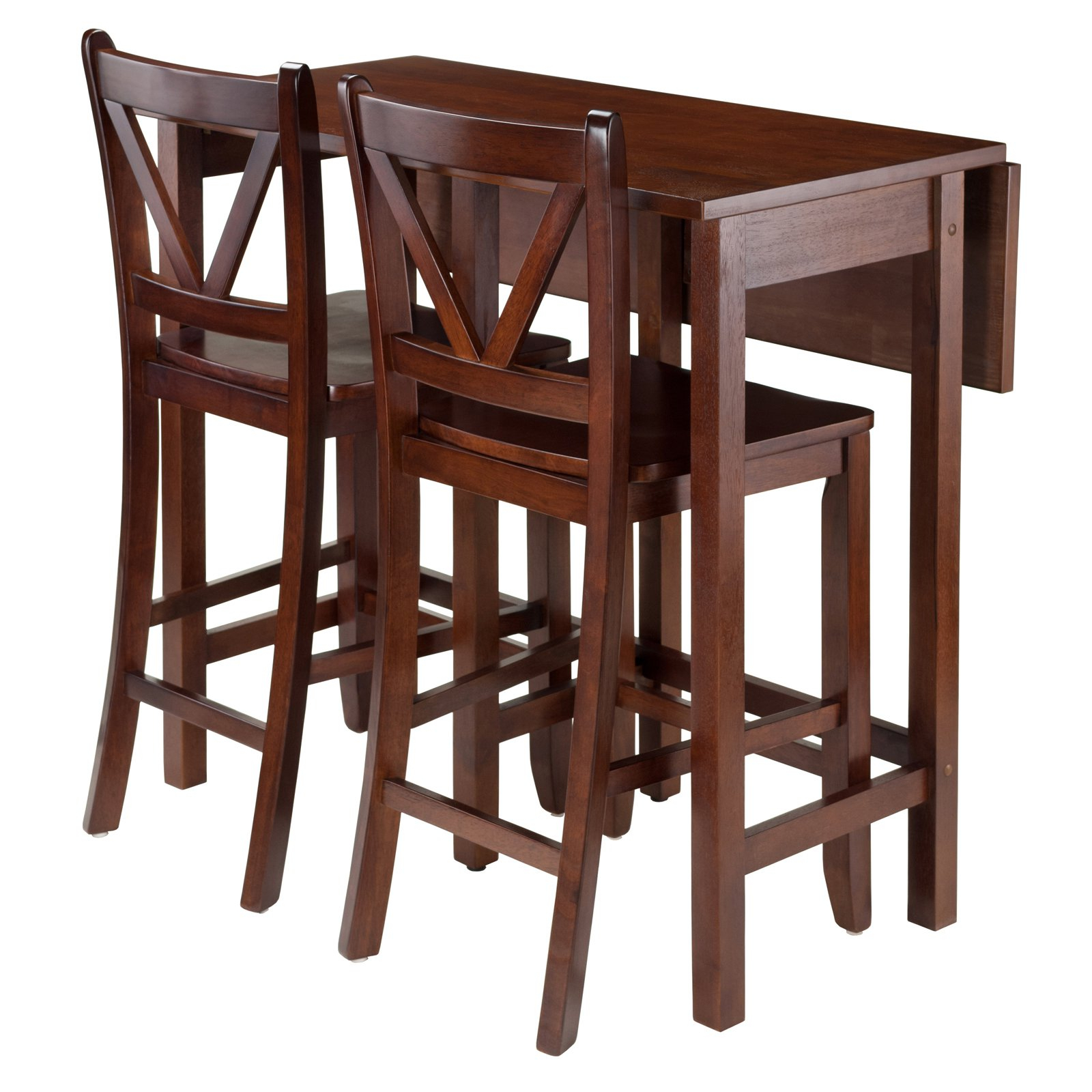 Favorite Winsome Trading Lynnwood 3 Piece Counter Height Dining Table Set For Winsome 3 Piece Counter Height Dining Sets (View 2 of 20)