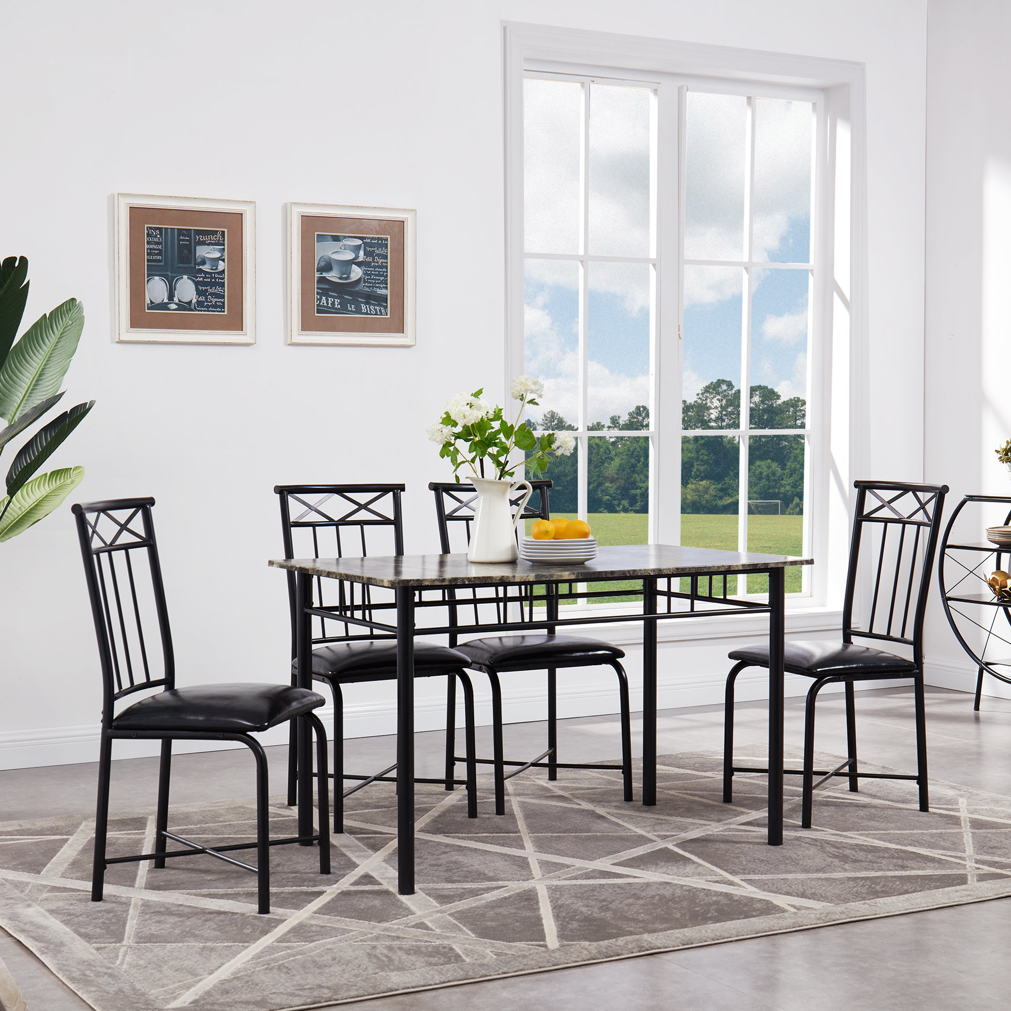 Fleur De Lis Living Register 5 Piece Dining Set & Reviews (View 8 of 20)