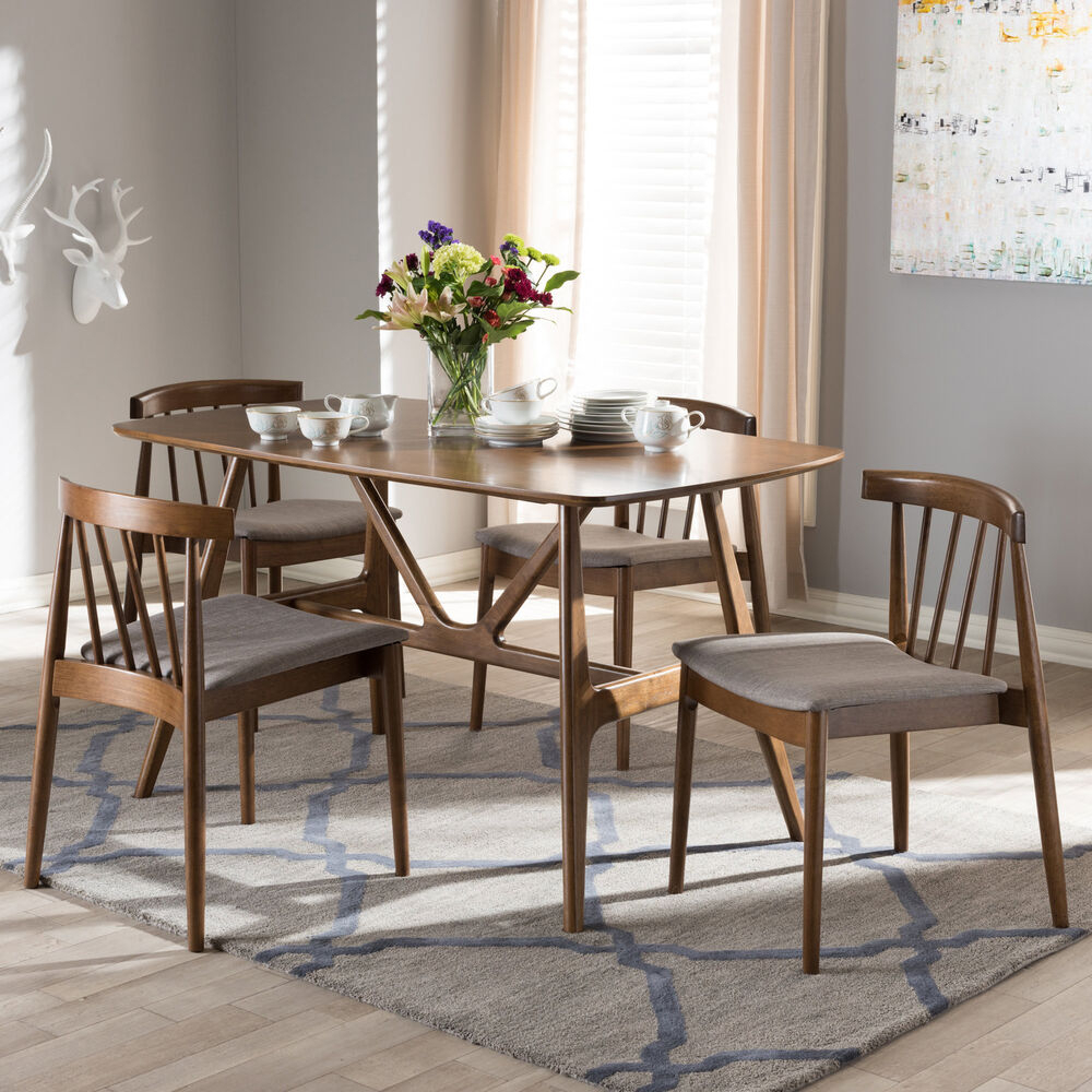 Inspiration about George Oliver Watkin Mid Century Modern 5 Piece Breakfast Nook Regarding Most Up To Date 5 Piece Breakfast Nook Dining Sets (#15 of 20)