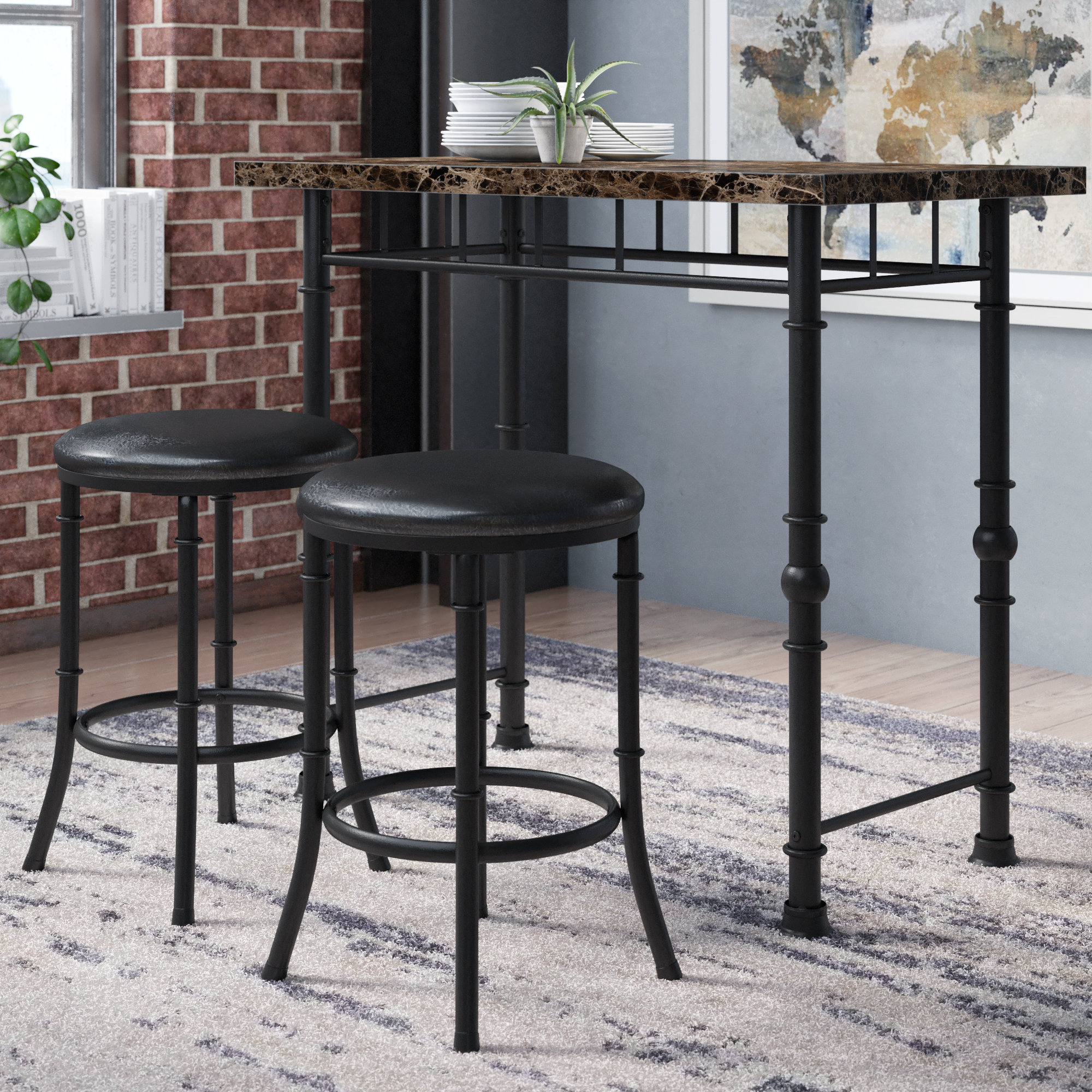 Inspiration about Giles 3 Piece Dining Sets For Current Williston Forge Giles 3 Piece Dining Set & Reviews (#1 of 20)