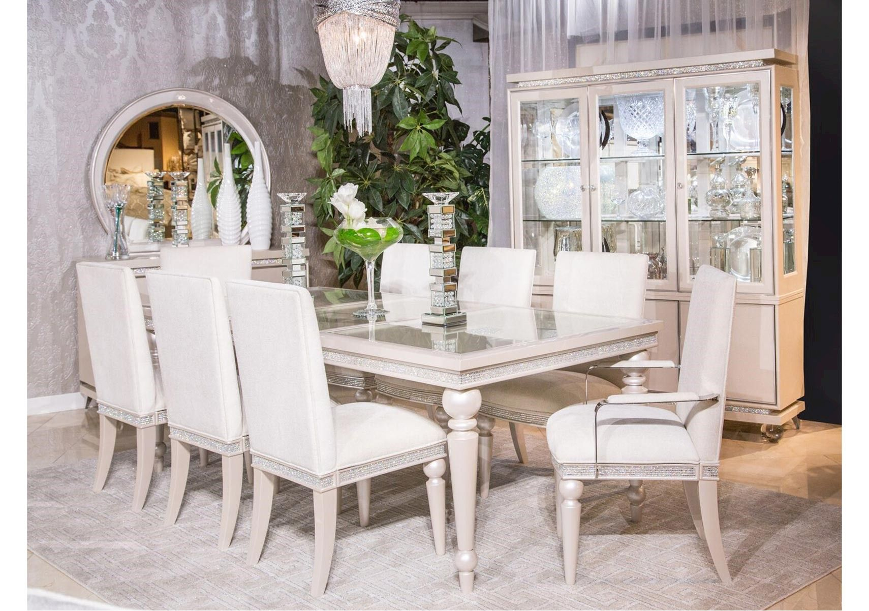 Inspiration about Glimmering Heights 7 Pc Dining Set (#6 of 20)