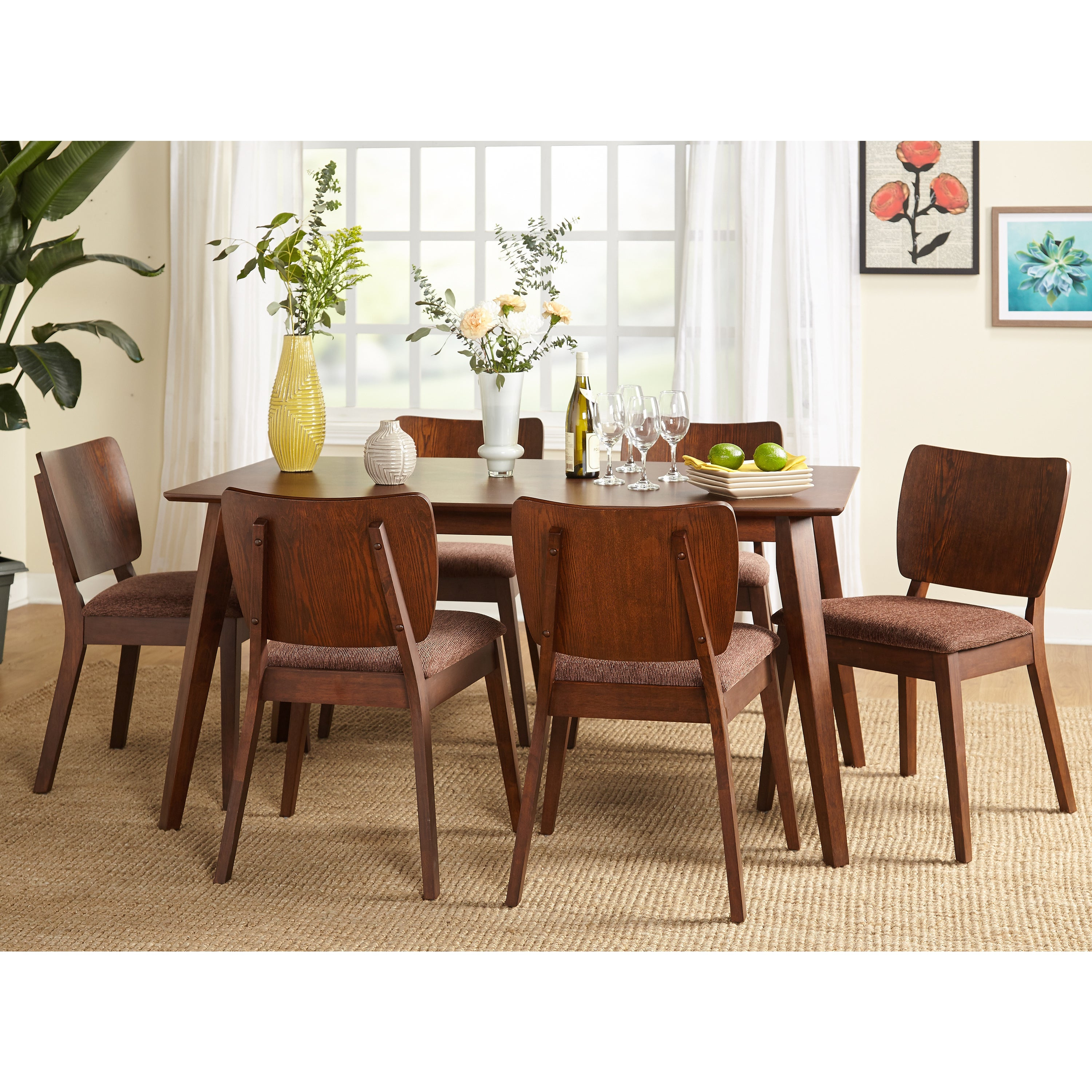 Goodman 5 Piece Solid Wood Dining Sets (Set Of 5) Pertaining To Well Liked Buy 5 Piece Sets, Wood Kitchen & Dining Room Sets Online At (#7 of 20)