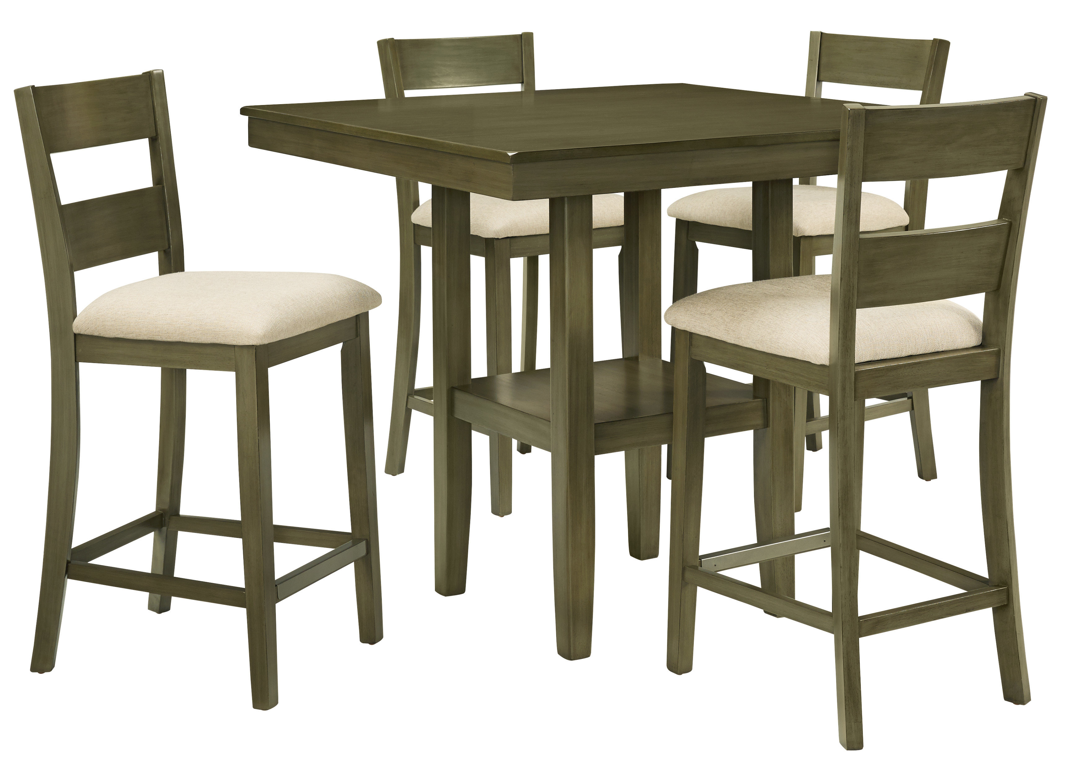 Gwyneth 5 Piece Counter Height Dining Set & Reviews (#7 of 20)