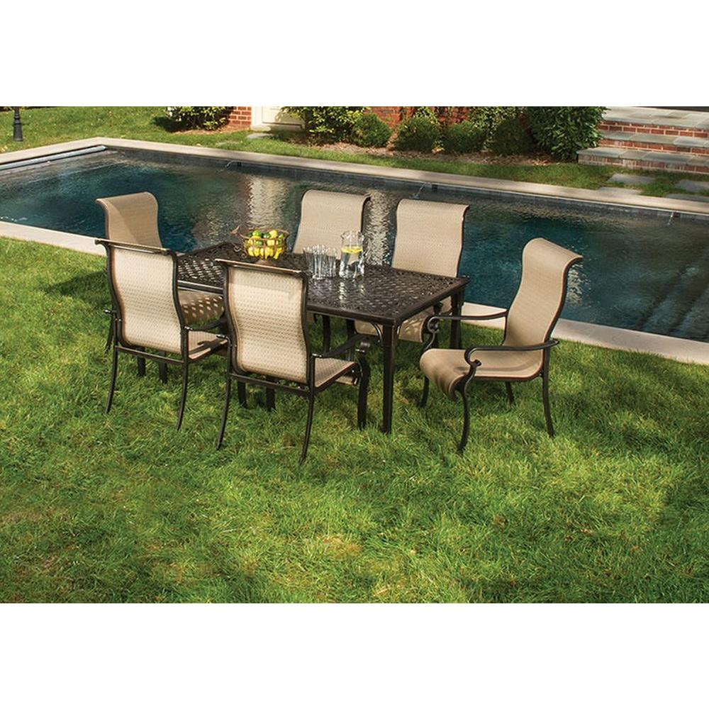 Hanover Brigantine 7 Piece Patio Outdoor Dining Set Brigantine7Pc Intended For Widely Used Laconia 7 Pieces Solid Wood Dining Sets (Set Of 7) (#2 of 20)