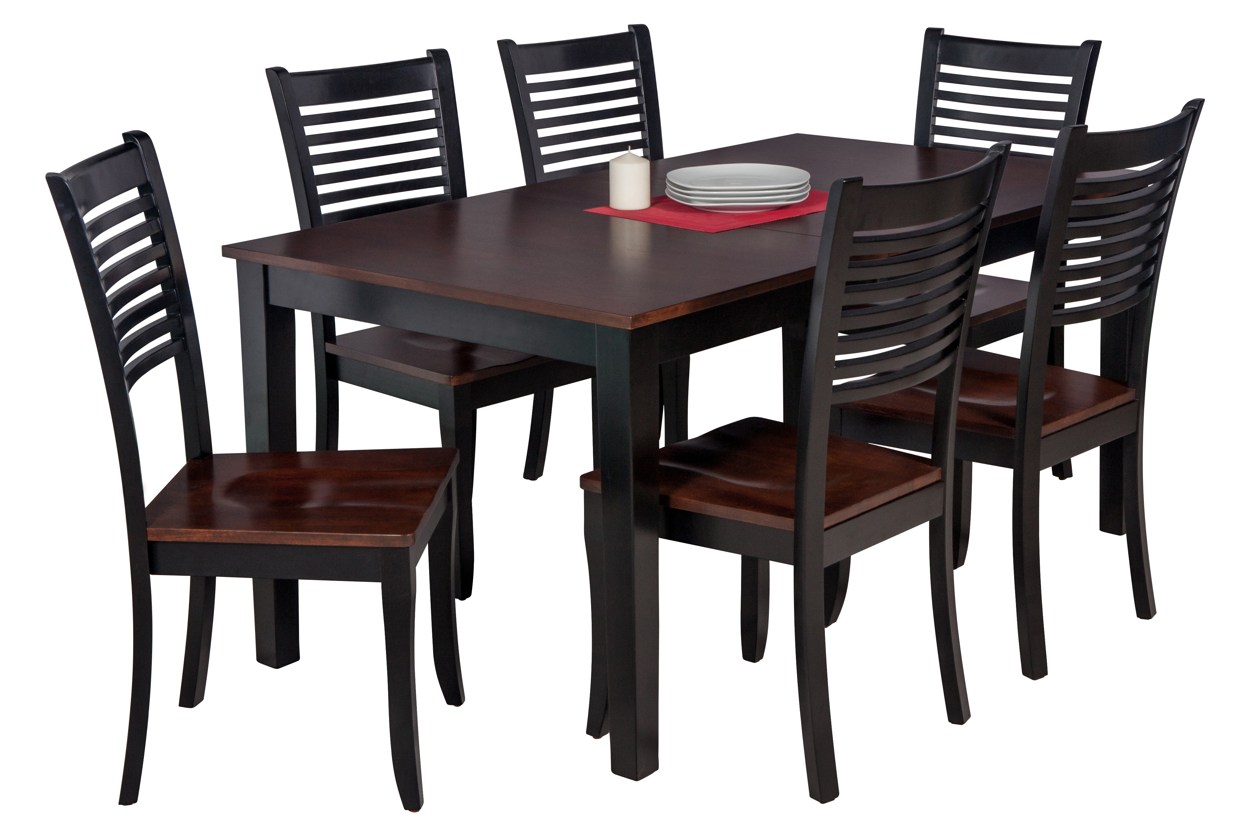 Hanska Wooden 5 Piece Counter Height Dining Table Sets (Set Of 5) For Most Up To Date Loon Peak Downieville Lawson Dumont 7 Piece Solid Wood Dining Set (#3 of 20)