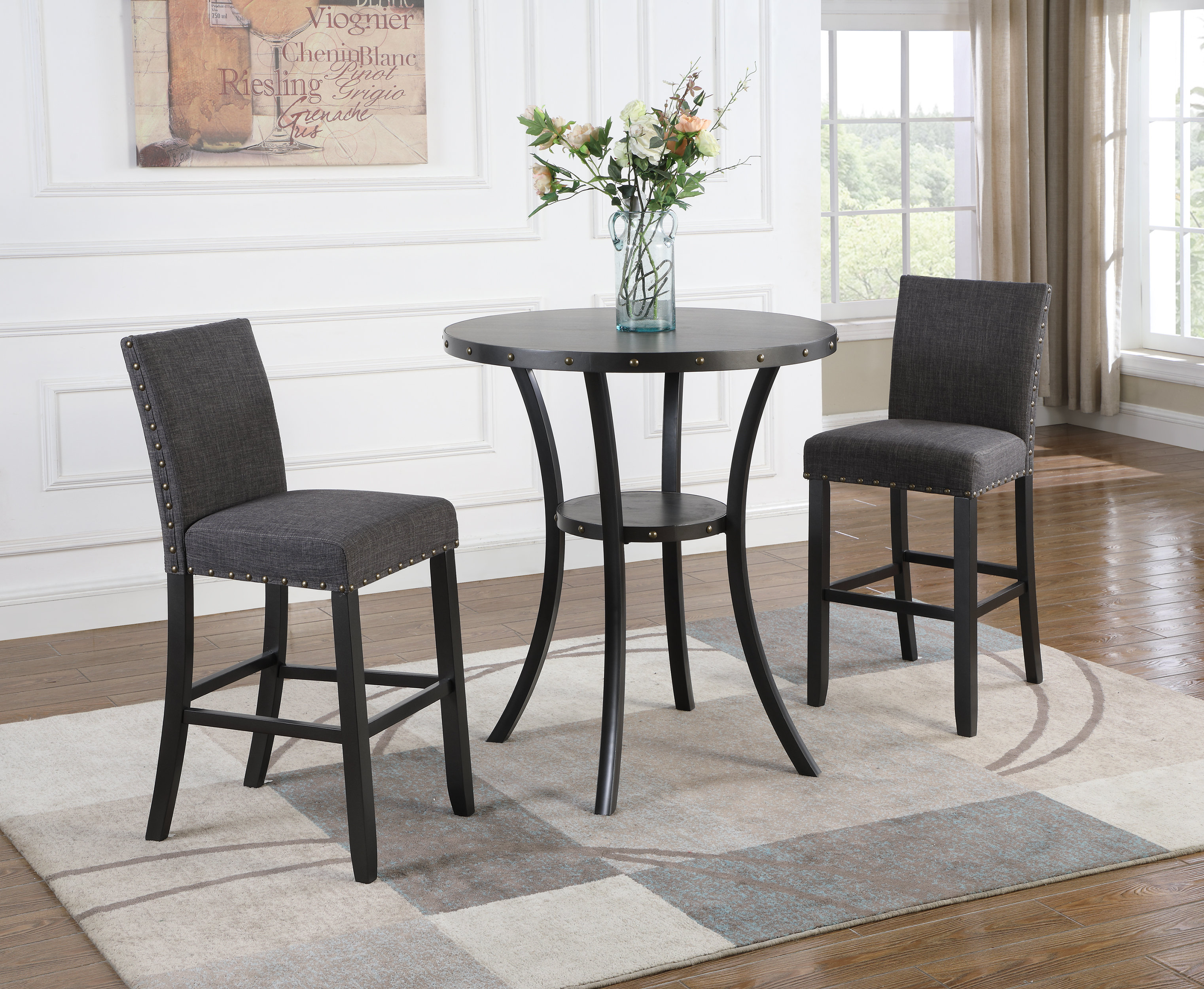Haysi 3 Piece Pub Table Set & Reviews (View 12 of 20)
