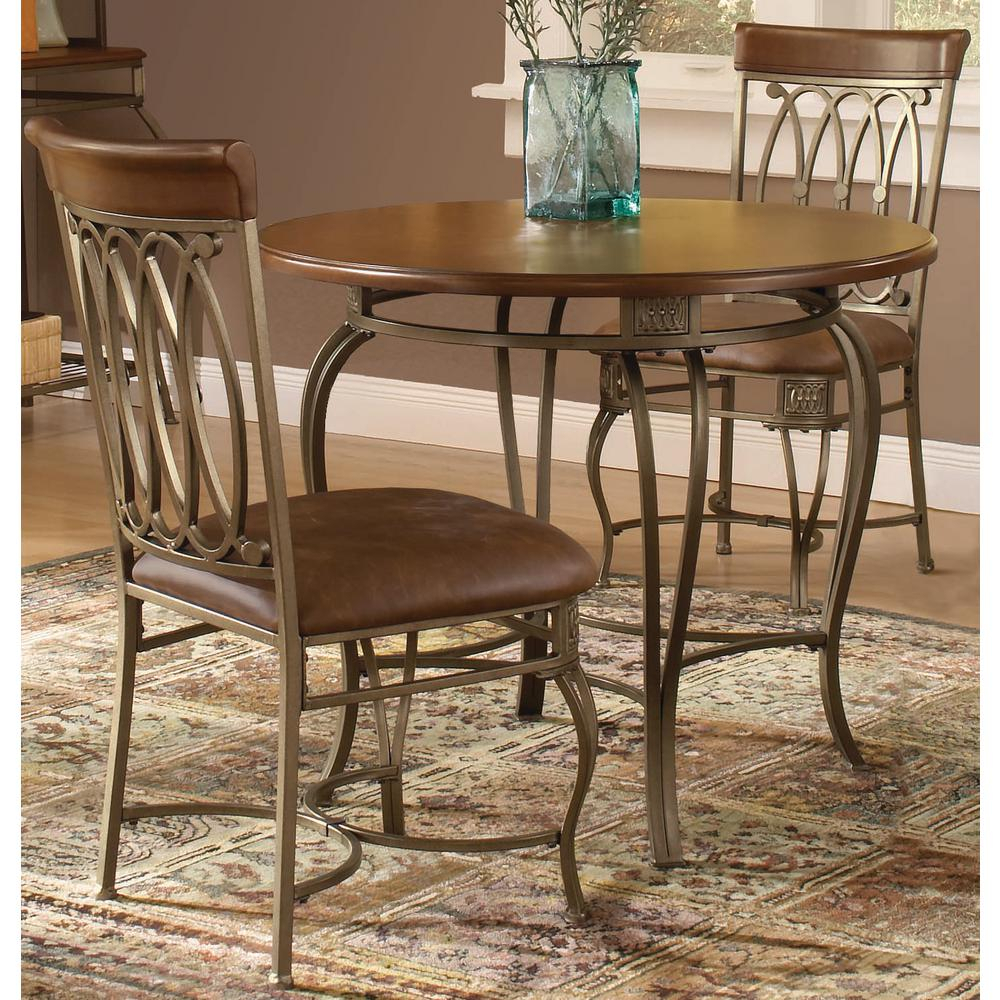 Hillsdale Furniture Montello 3 Piece Old Steel Dining Set Throughout Popular 3 Piece Dining Sets (#14 of 20)