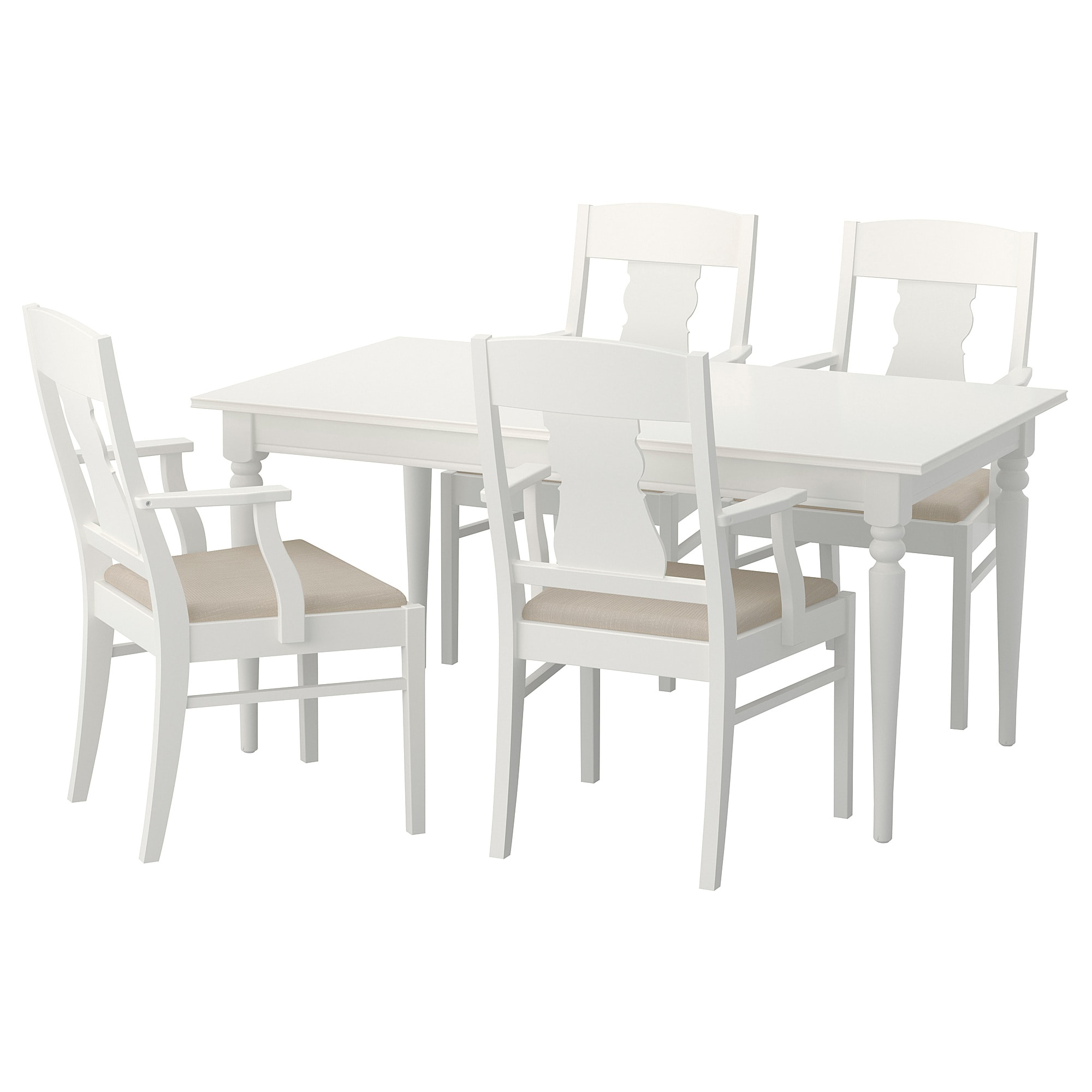 Ingatorp / Ingatorp Table And 4 Chairs – White – Ikea Regarding Recent Castellanos Modern 5 Piece Counter Height Dining Sets (View 19 of 20)