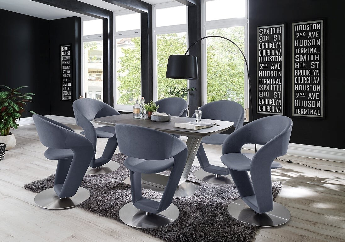 Jarrod 5 Piece Dining Sets In 2017 Jarrod Grey And Anthracite Grey Extending Ceramic Dining Table 160Cm (#7 of 20)