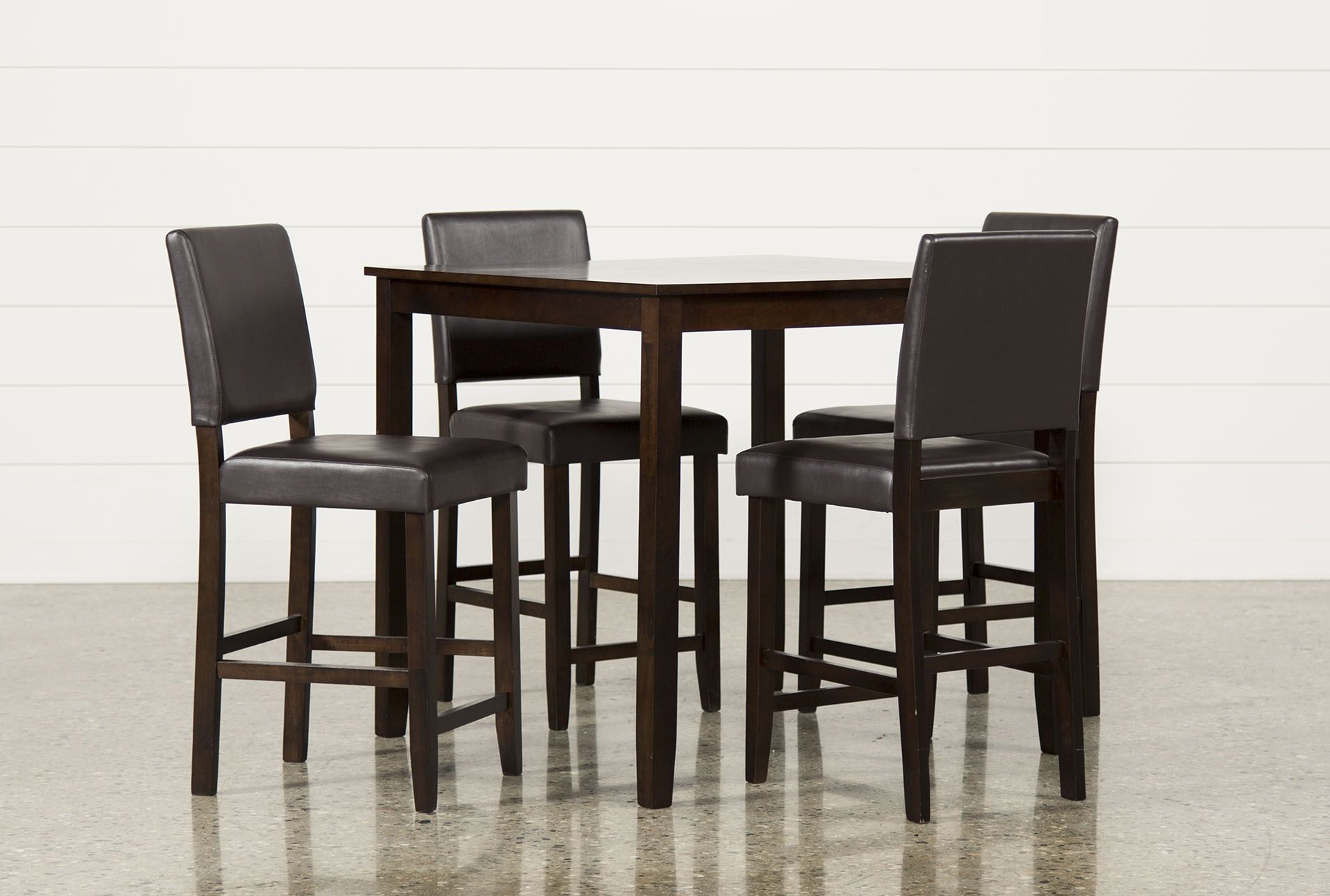 Jarrod 5 Piece Dining Sets In Well Liked Jarrod 5 Piece Counter Set, Cappucino, Kitchen & Dining Furniture (#8 of 20)