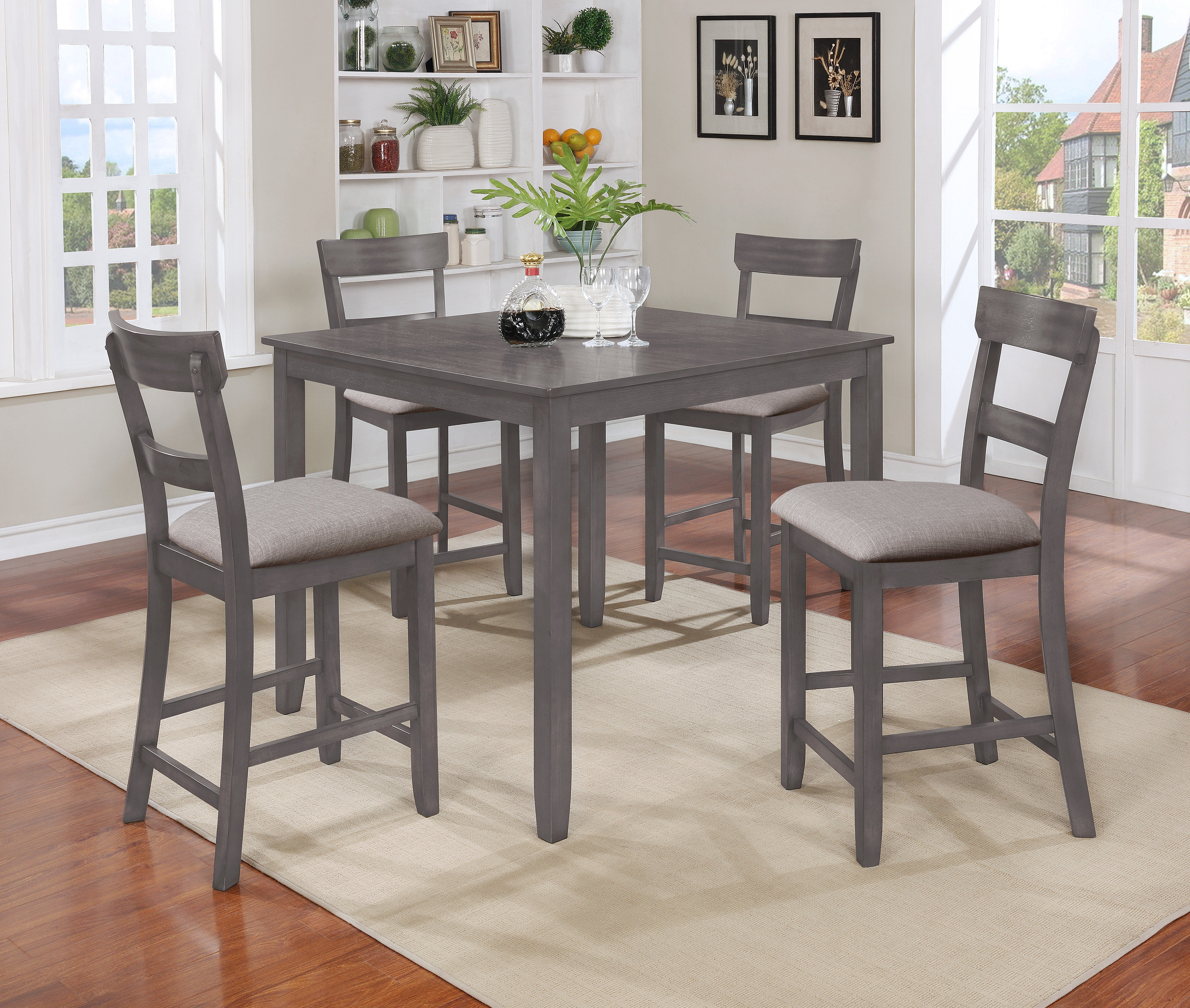 Joss & Main For 2019 Penelope 3 Piece Counter Height Wood Dining Sets (#5 of 20)