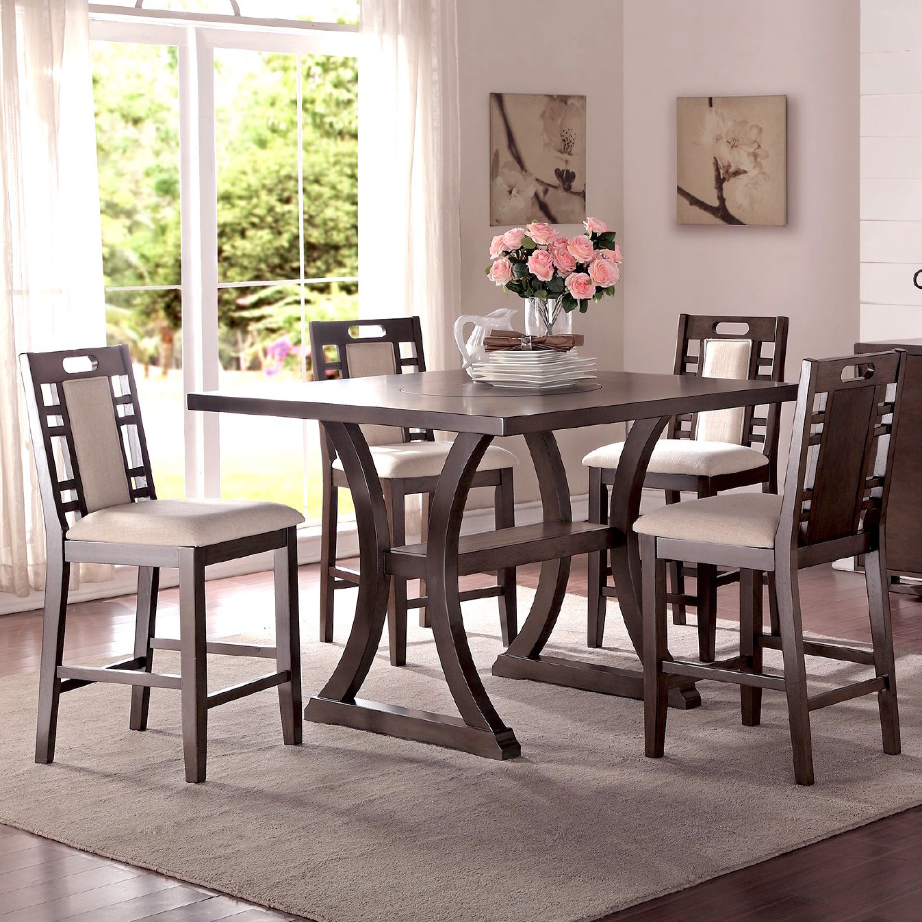 Joss & Main Pertaining To Goodman 5 Piece Solid Wood Dining Sets (Set Of 5) (View 10 of 20)