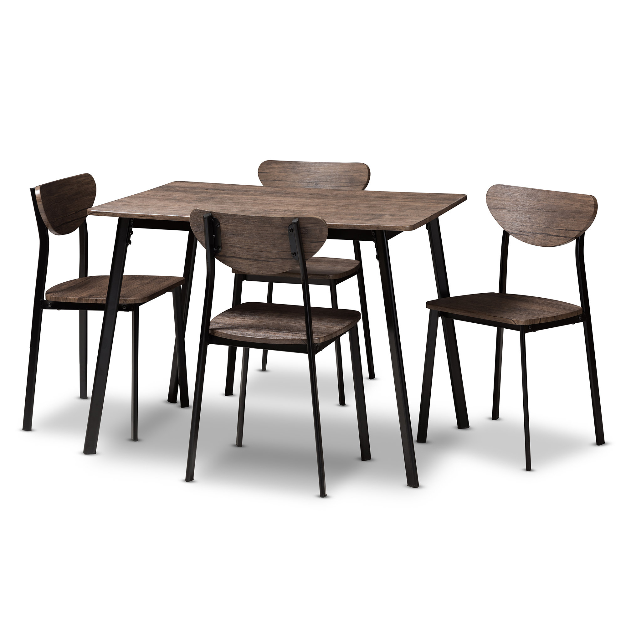 Kinsler 3 Piece Bistro Sets Regarding Widely Used Union Rustic Tejeda 5 Piece Dining Set & Reviews (#5 of 20)
