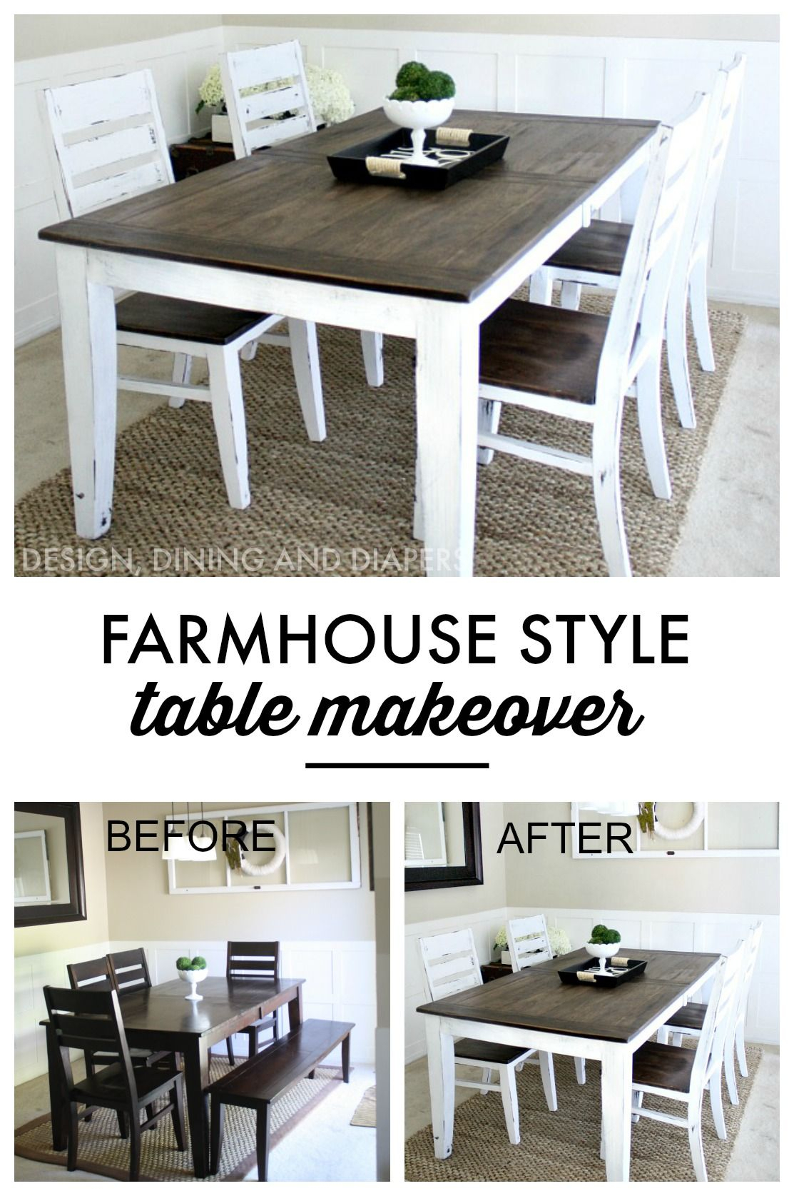 Kitchen Table Makeover, Kitchen (#8 of 20)