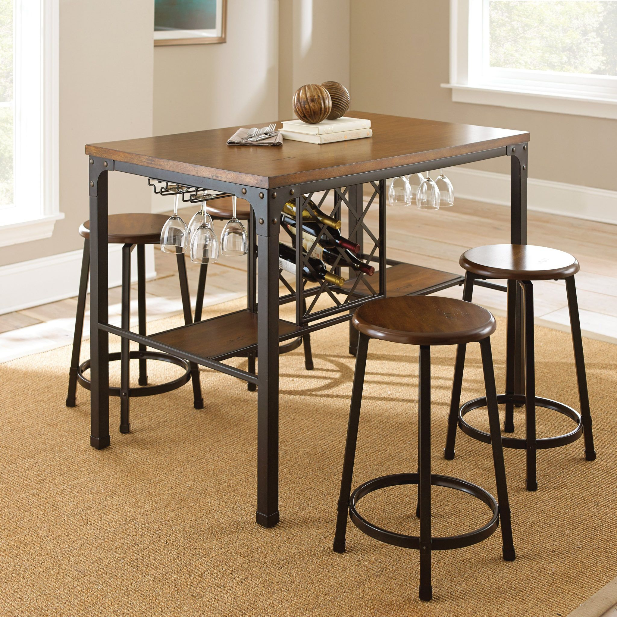 Kitchentable In Intended For Well Known Berrios 3 Piece Counter Height Dining Sets (#10 of 20)