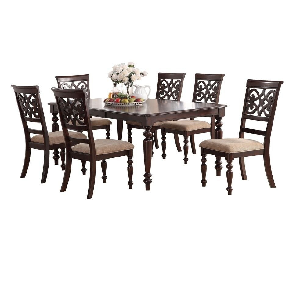 Inspiration about Laconia 7 Pieces Solid Wood Dining Sets (Set Of 7) Intended For Well Known Shop Home Source Laconia Walnut 7 Piece Dining Set – Free Shipping (#4 of 20)