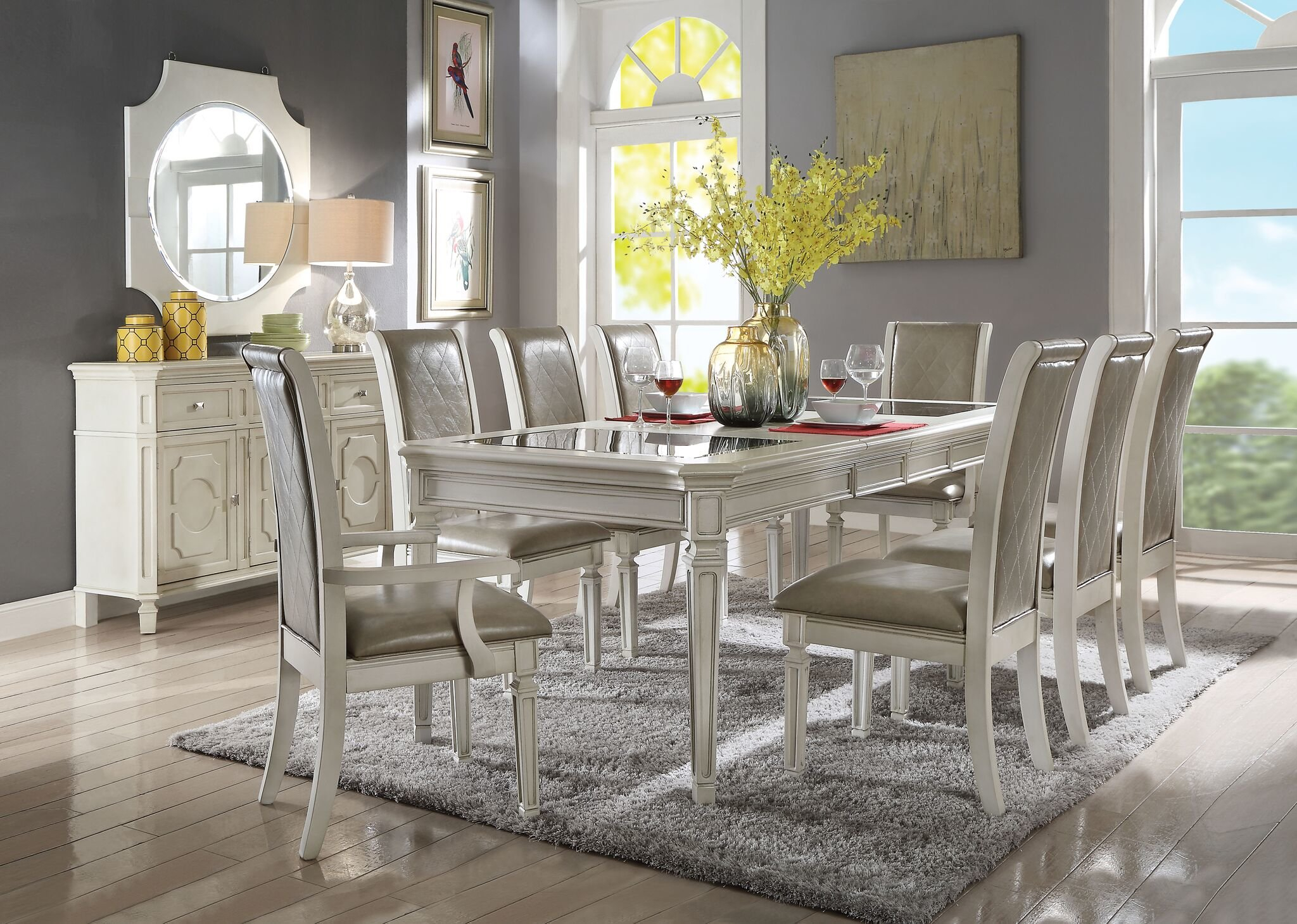 Lamotte 5 Piece Dining Sets Regarding Newest One Allium Way Lamotte 9 Piece Extendable Dining Set (View 7 of 20)