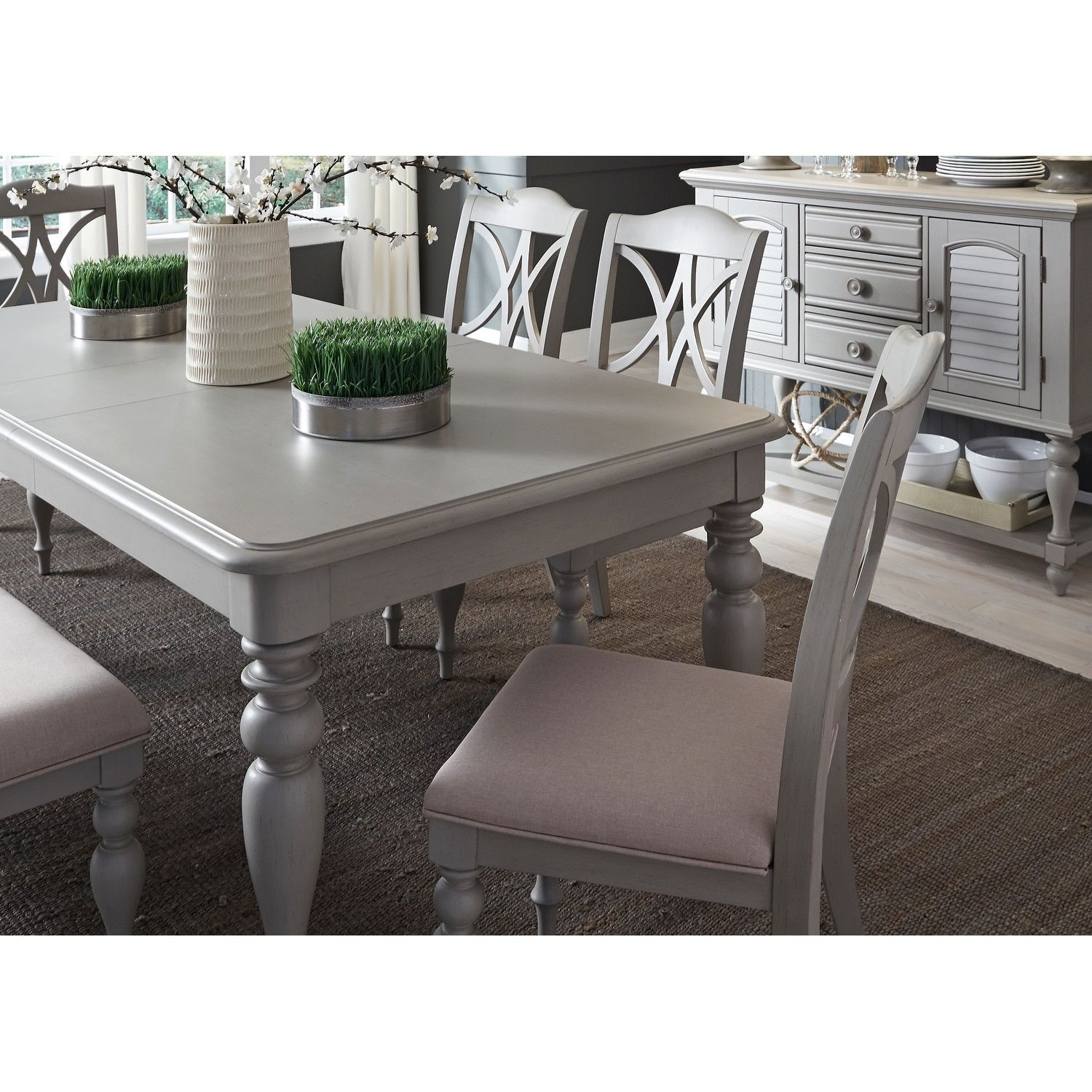 Inspiration about Lamotte 5 Piece Dining Sets Within Latest Liberty Summer House 40X78 Dove Gray Rectangular Dinette Table (#4 of 20)