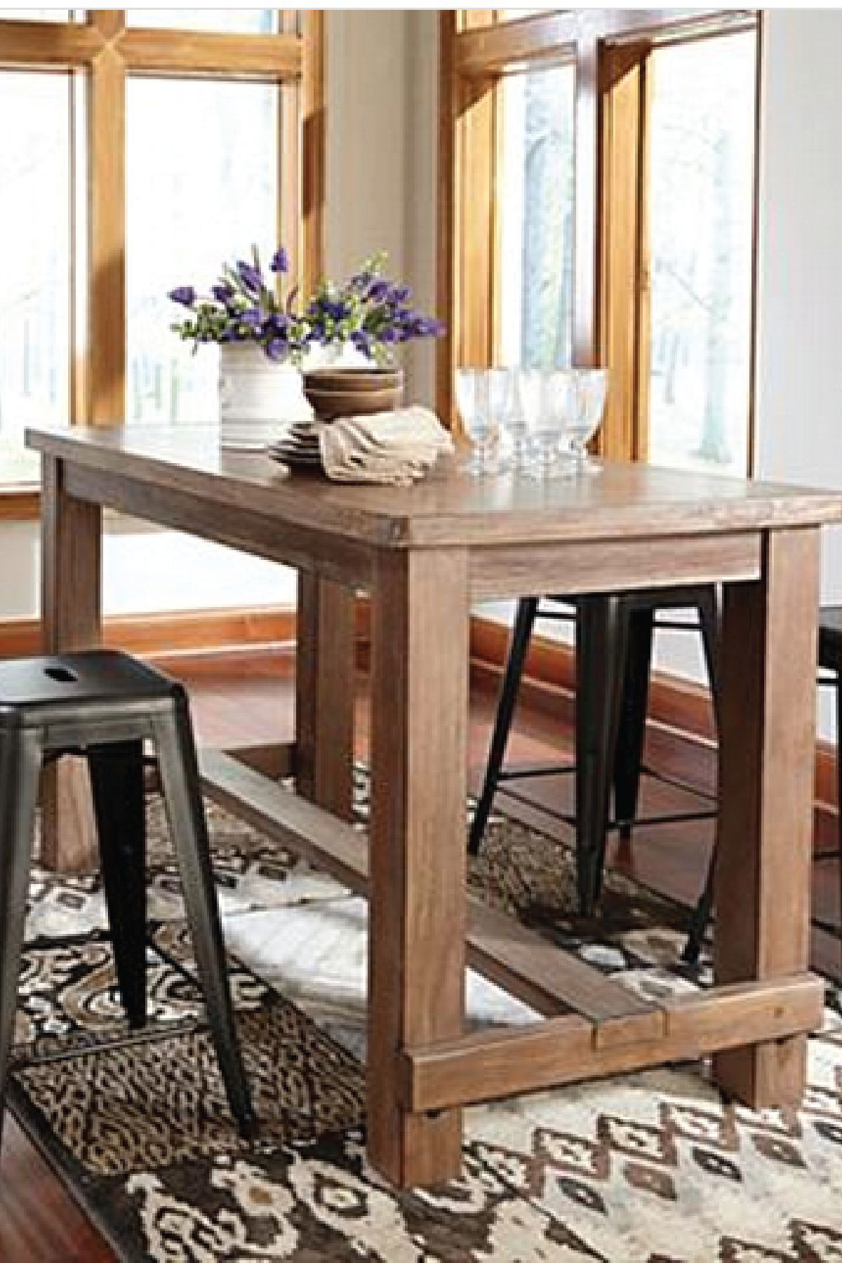 Latest Bring This Counter Height Dining Room Table Into Your Home For A Within Northwoods 3 Piece Dining Sets (#4 of 20)