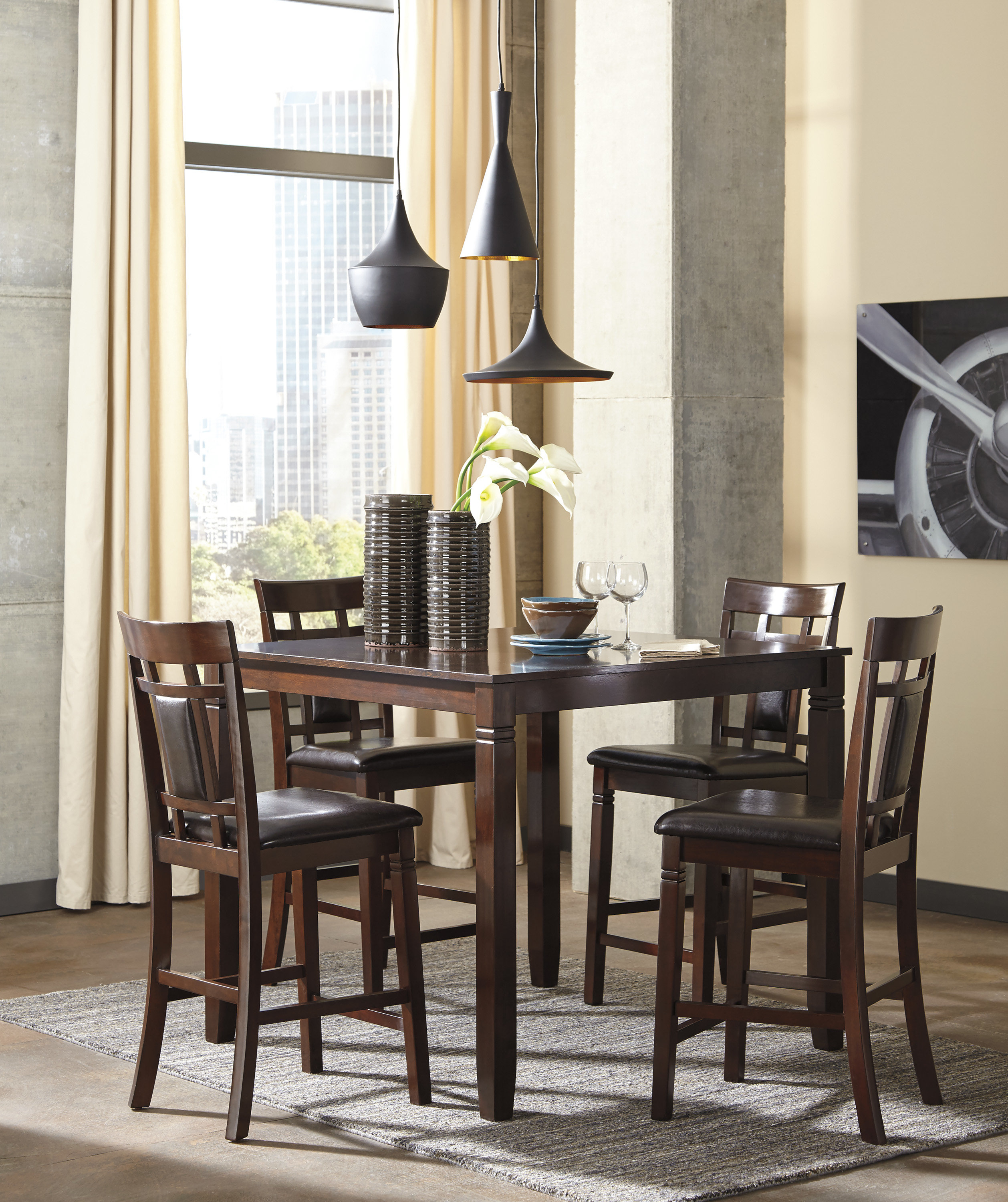 Inspiration about Latest Leger 5 Piece Counter Height Dining Set & Reviews (#15 of 20)