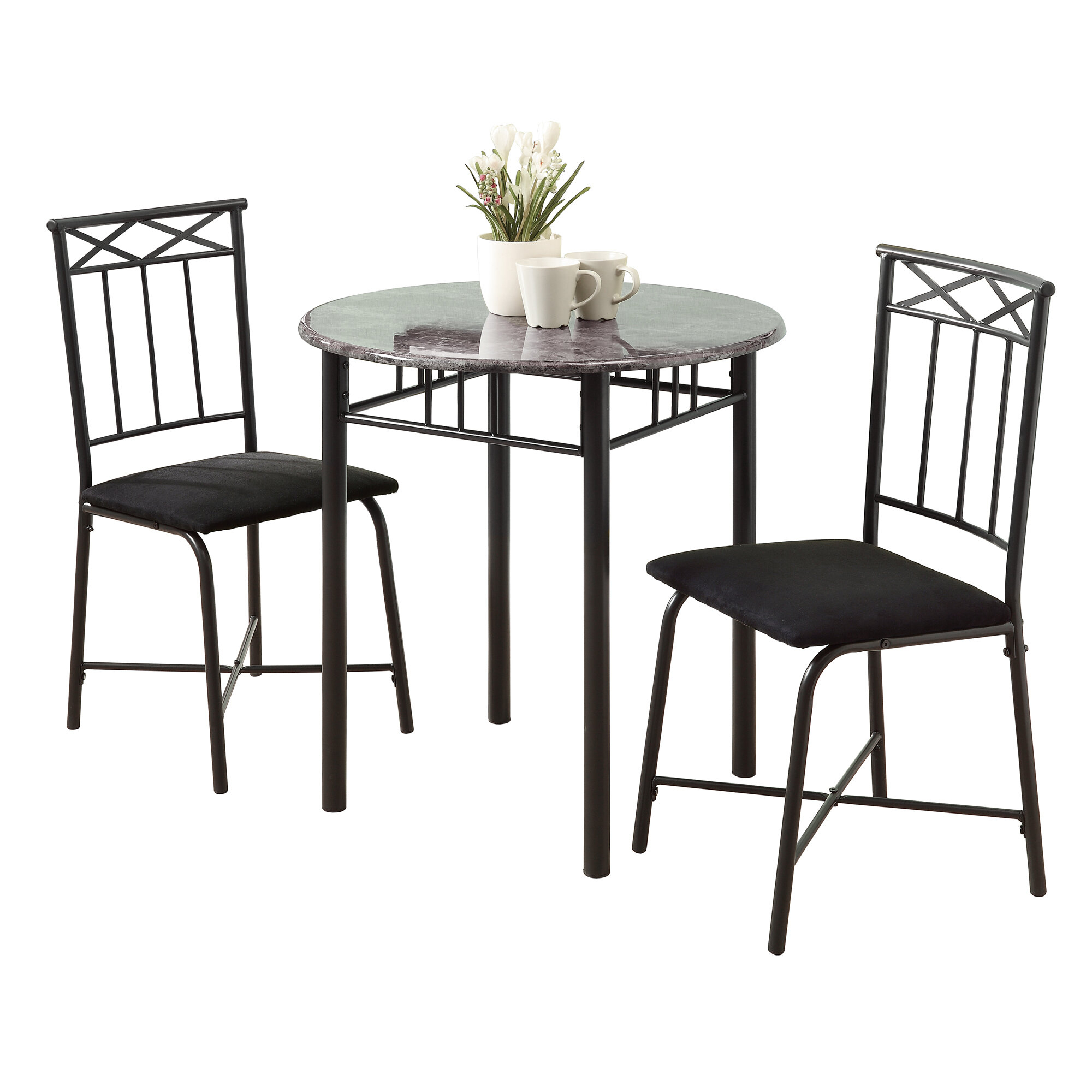Inspiration about Latest Monarch Specialties Inc. 3 Piece Dining Set & Reviews (#15 of 20)
