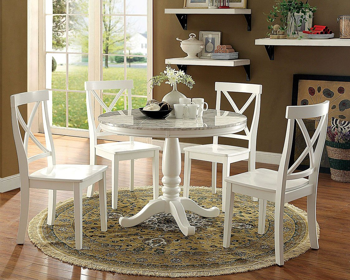 Latest Penelope Dining Room Setfurniture Of America (#7 of 20)
