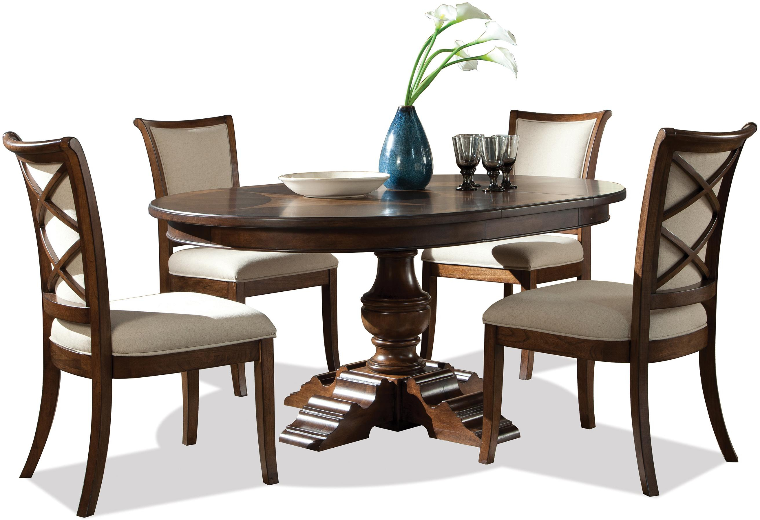 Inspiration about Latest Riverside Furniture Lawrenceville 5 Piece Round Table & Xx Side Pertaining To Hanska Wooden 5 Piece Counter Height Dining Table Sets (Set Of 5) (#12 of 20)