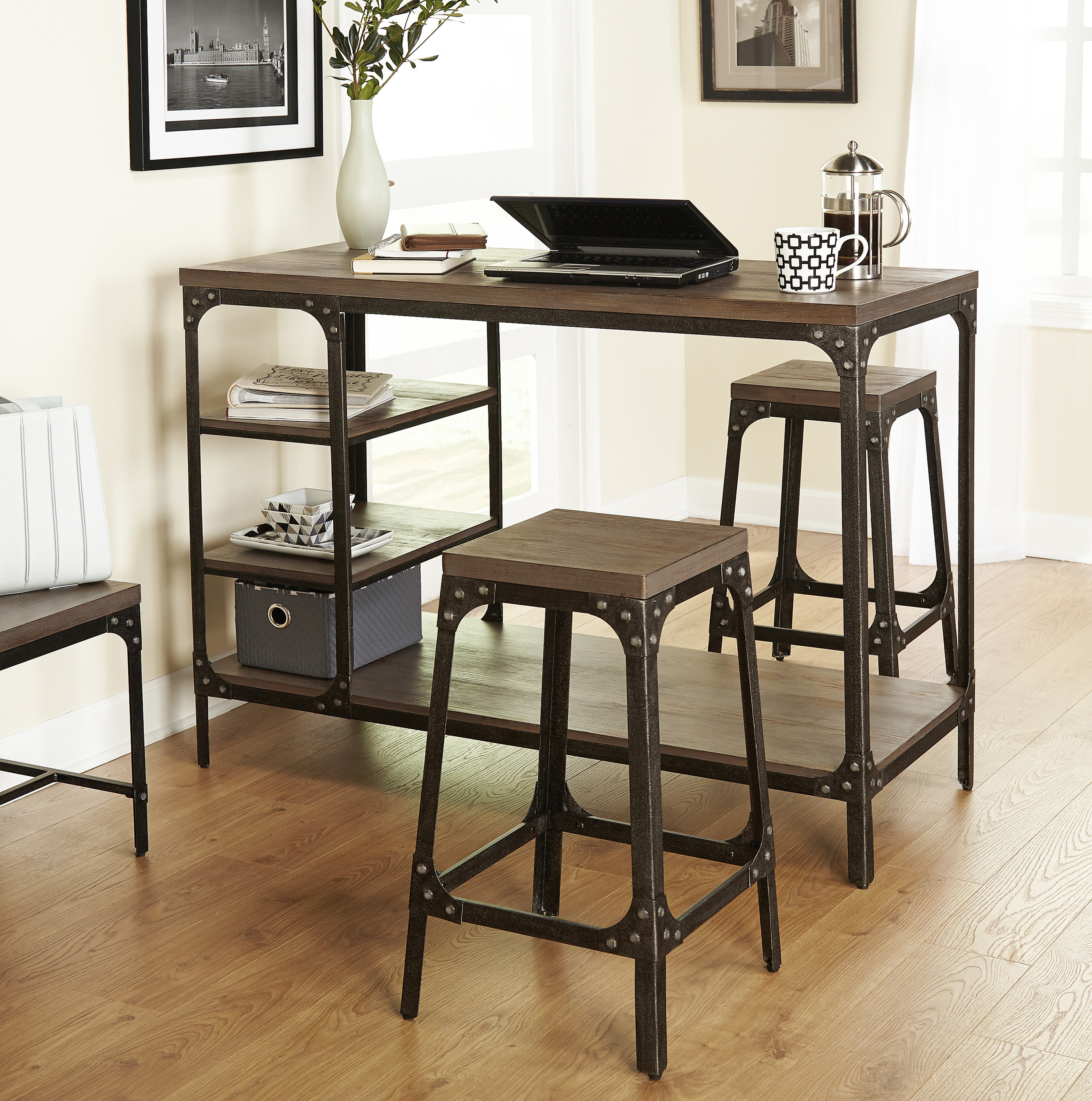 Latest Terence 3 Piece Breakfast Nook Dining Set & Reviews (View 7 of 20)