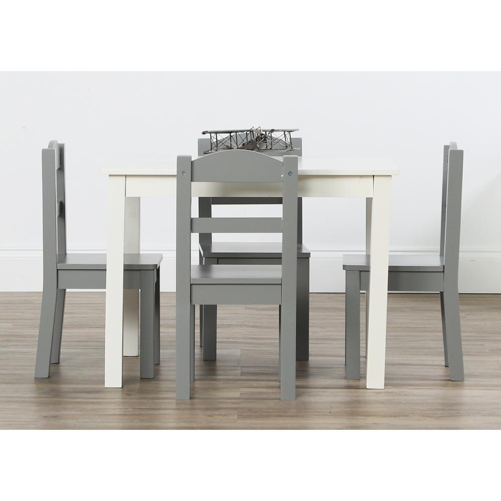 Latest Tot Tutors Springfield 5 Piece White/grey Kids Table And Chair Set Within Springfield 3 Piece Dining Sets (View 11 of 20)