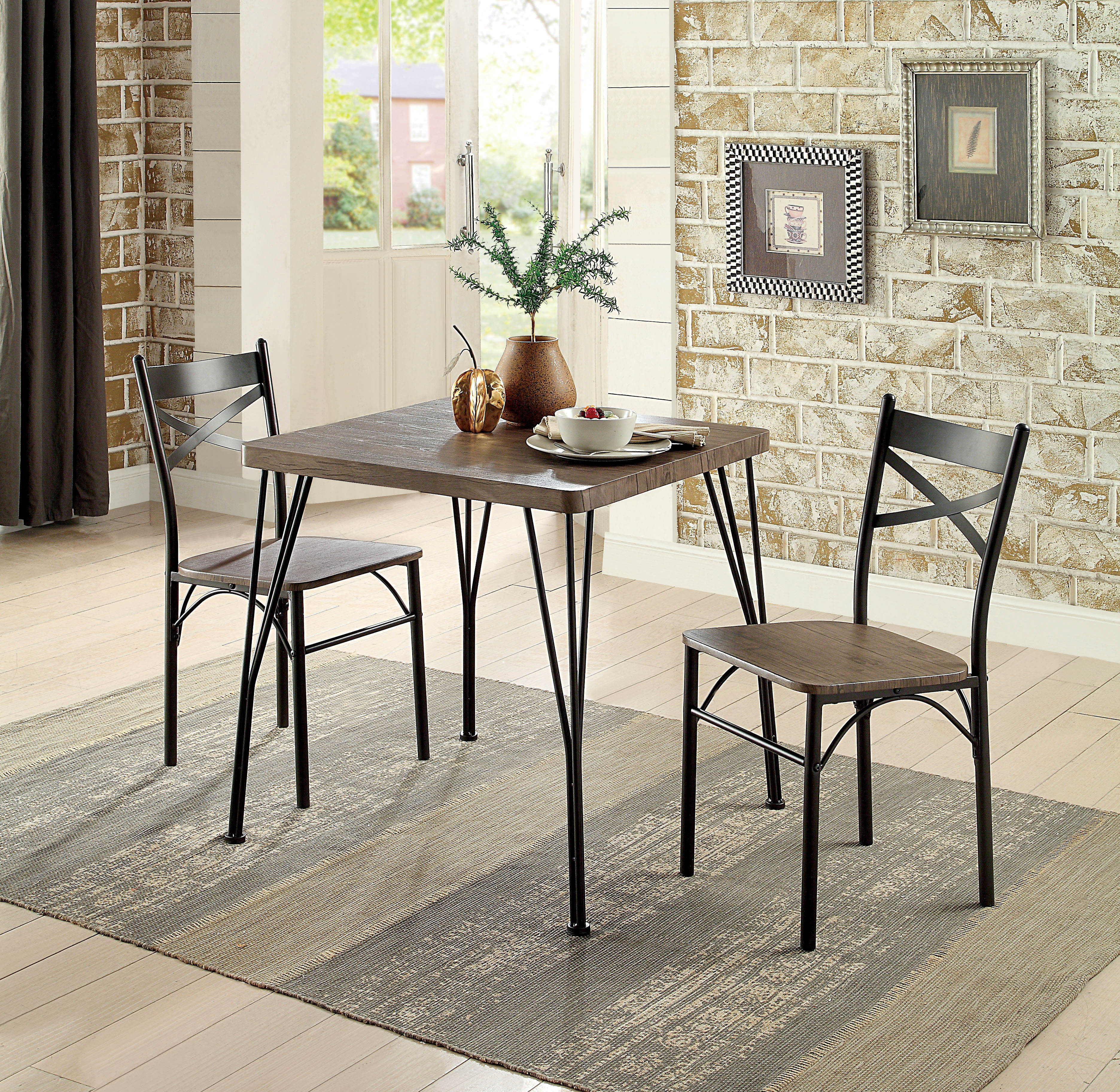 Laurel Foundry Modern Farmhouse Guertin 3 Piece Dining Set & Reviews Inside Widely Used Conover 5 Piece Dining Sets (#8 of 20)