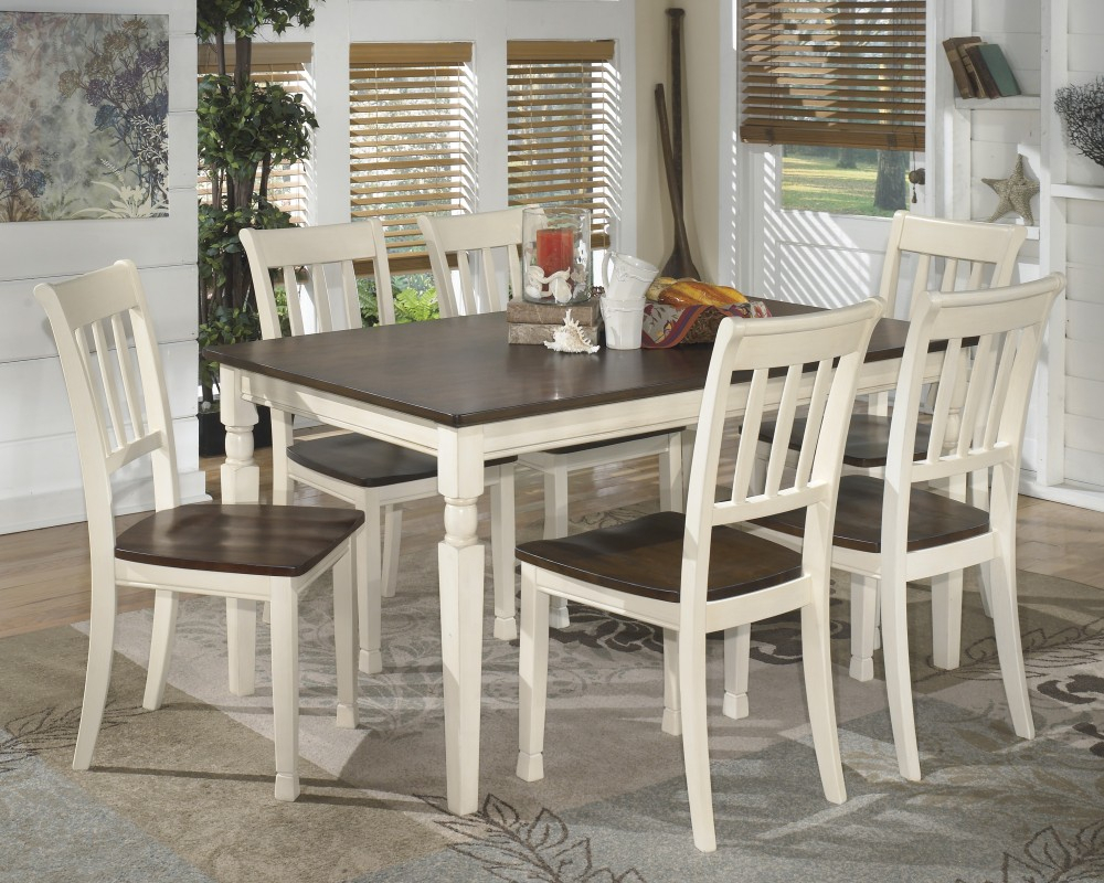 Inspiration about Linette 5 Piece Dining Table Sets With Preferred Whitesburg Rectangular Dining Room Table & 6 Side Chairs (#11 of 20)