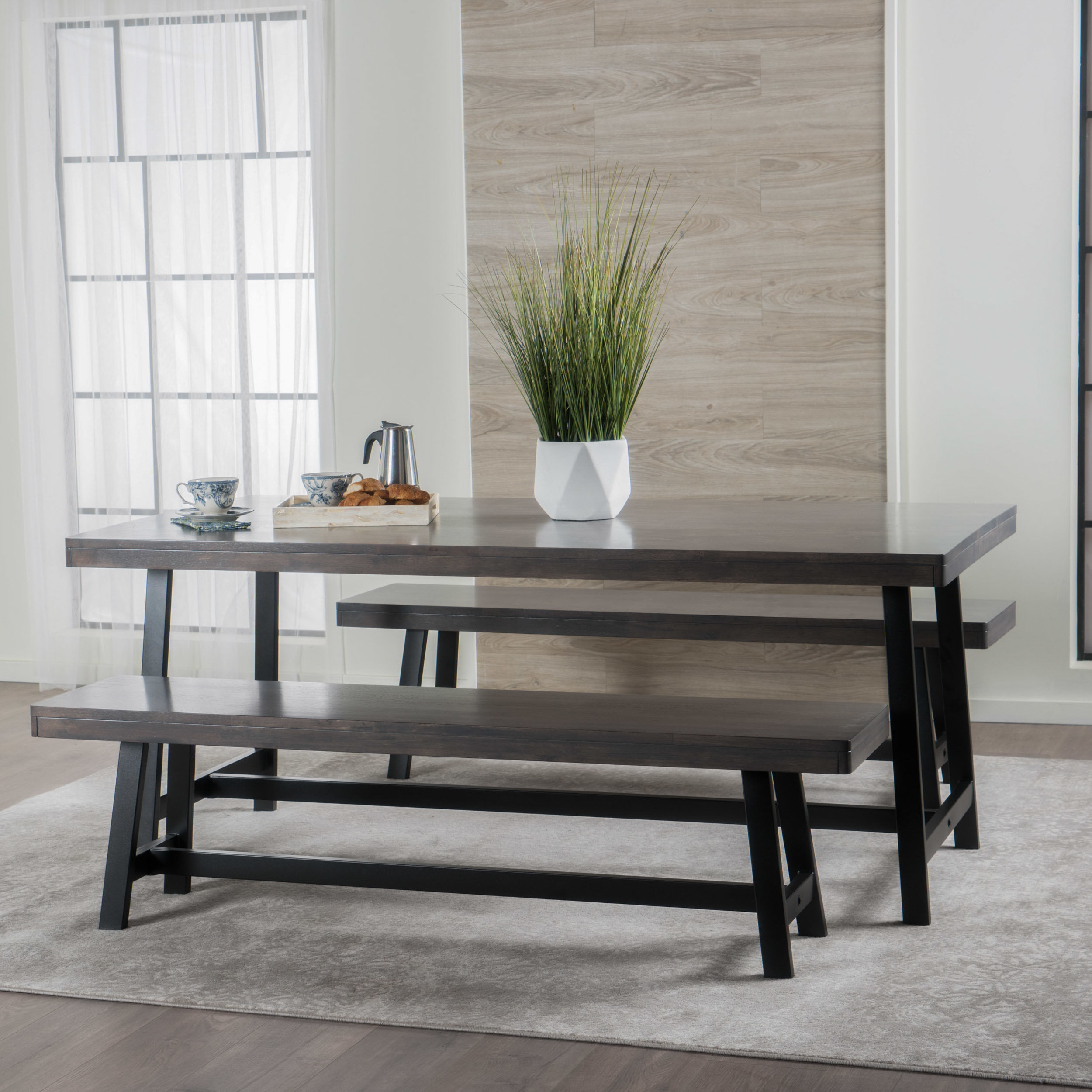 Maggie Rubberwood 3 Piece Dining Set & Reviews (#13 of 20)