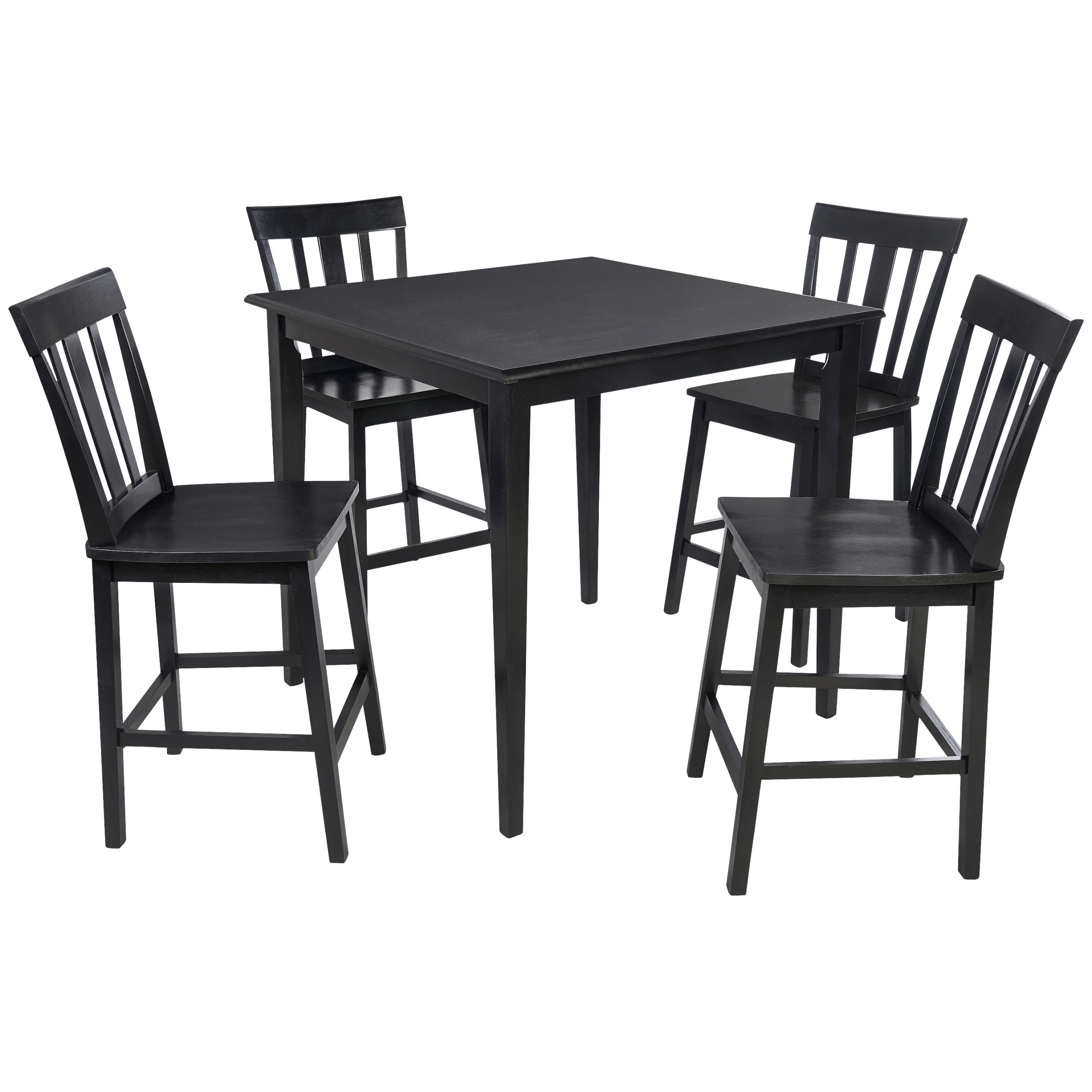 Mainstays 5 Piece Mission Counter Height Dining Set – Walmart With Best And Newest Sheetz 3 Piece Counter Height Dining Sets (View 18 of 20)