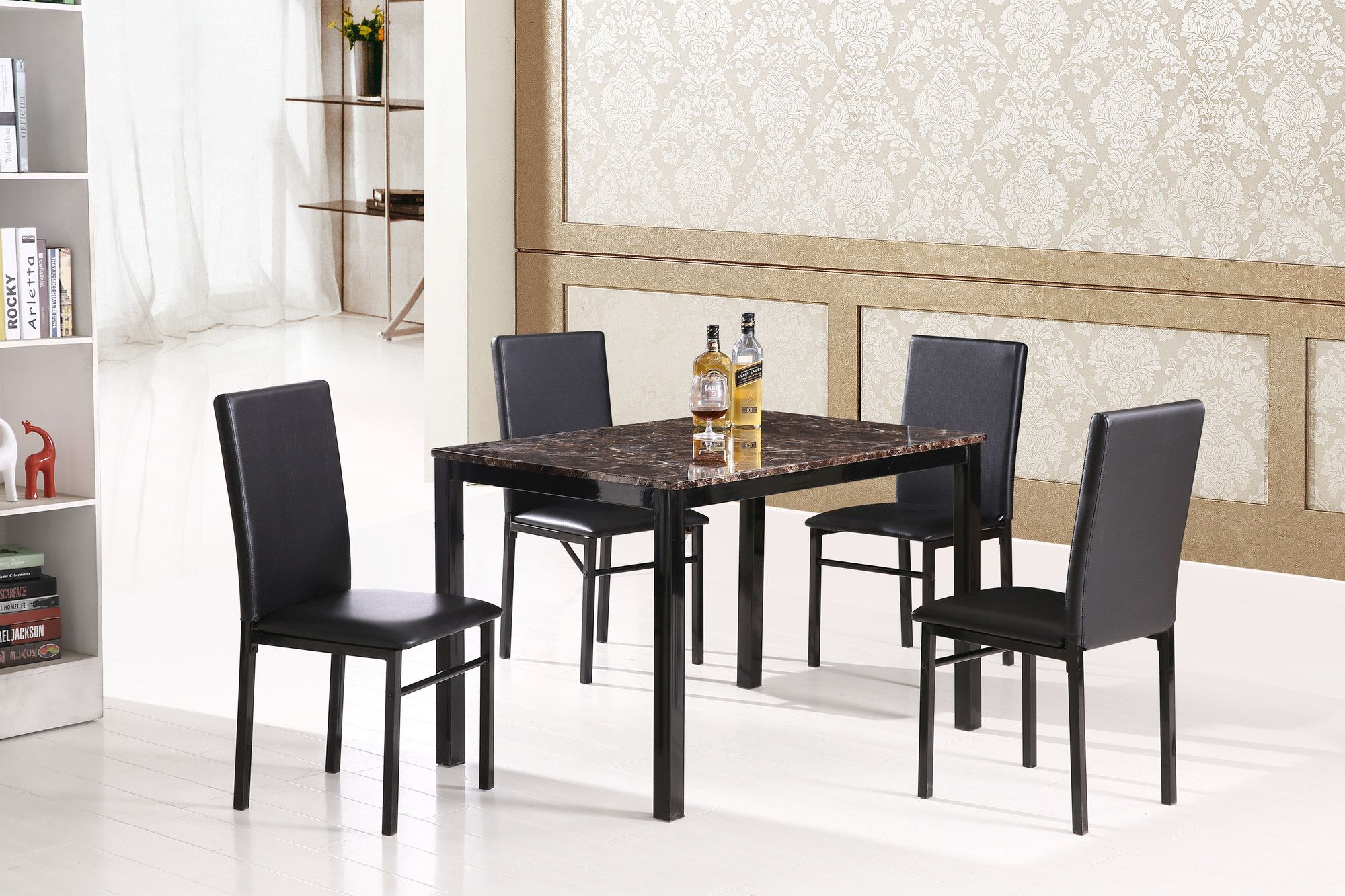 Inspiration about Marble Dining Table Set, Furniture Regarding Calla 5 Piece Dining Sets (#6 of 20)