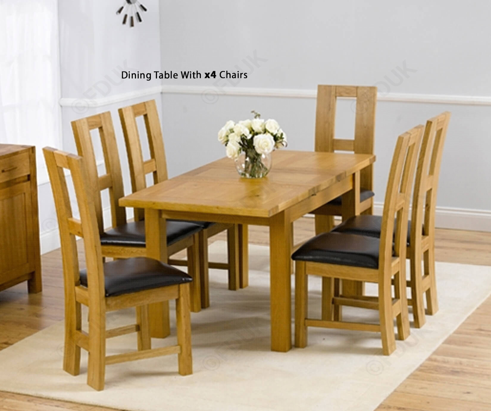 Inspiration about Mark Harris Rustique 120cm Solid Oak Rectangular Extending Dining Pertaining To Most Recent John 4 Piece Dining Sets (#4 of 20)
