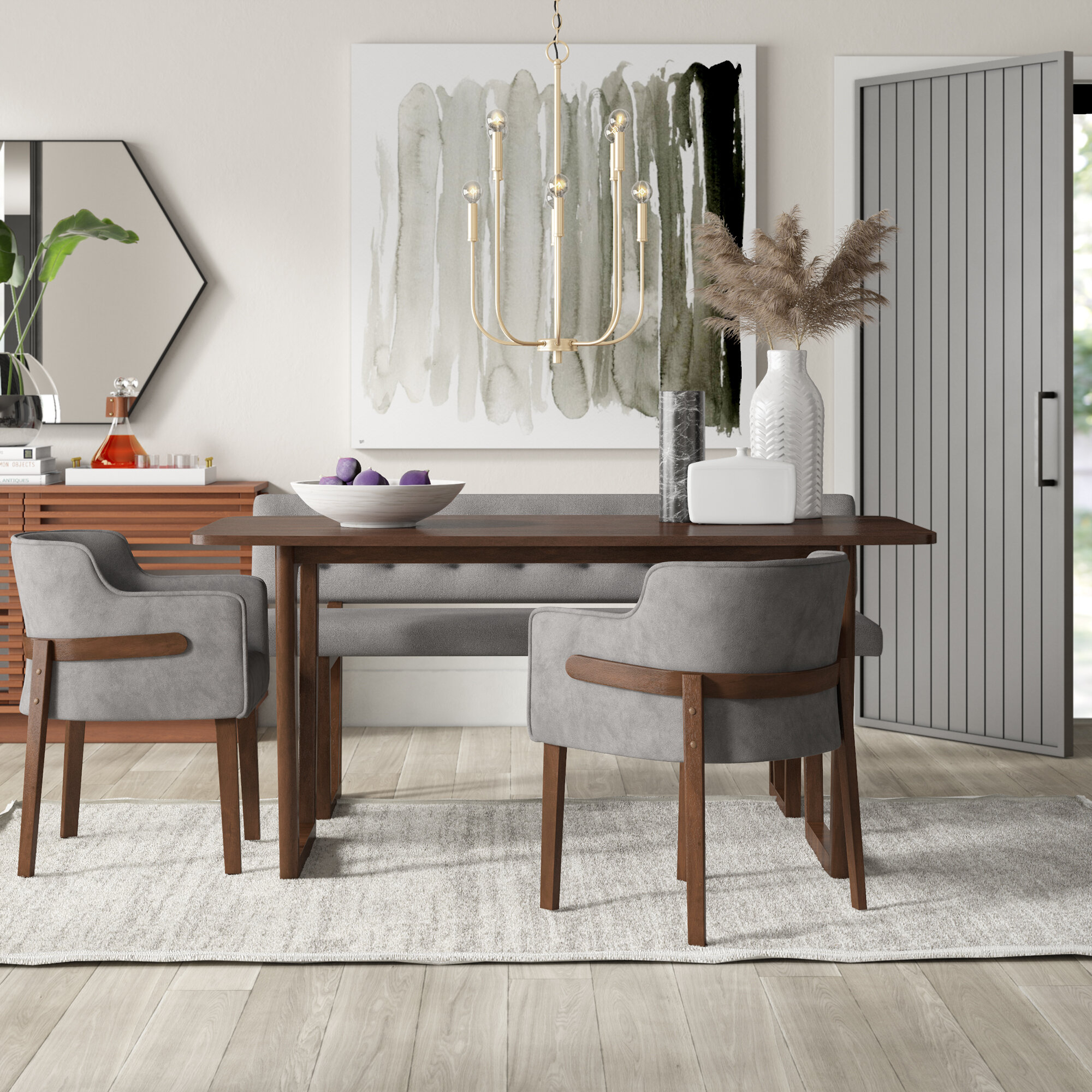 Inspiration about Mercury Row Mukai 4 Piece Dining Set (#2 of 20)