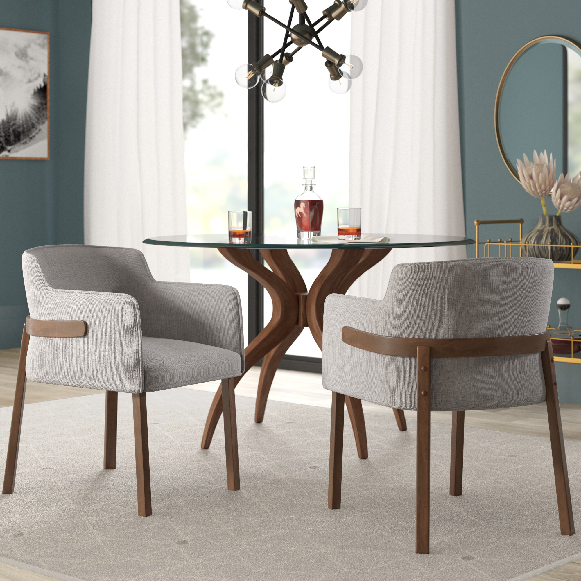 Mercury Row Mukai Upholstered Dining Chair & Reviews (#7 of 20)